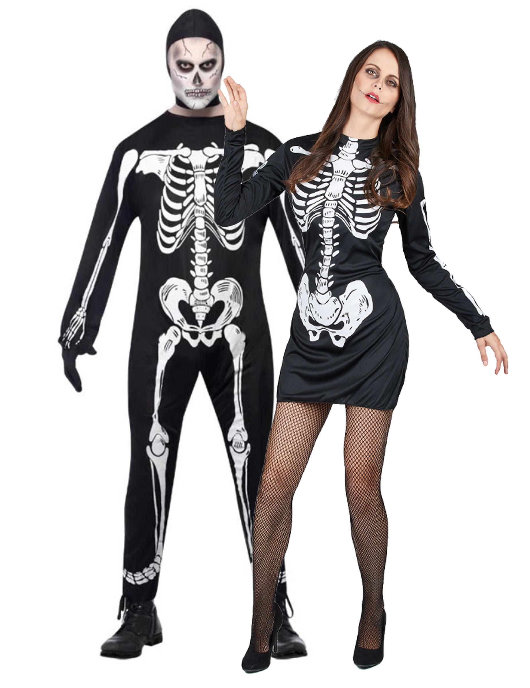 Déguisement couple squelette Halloween 6728b6d758db