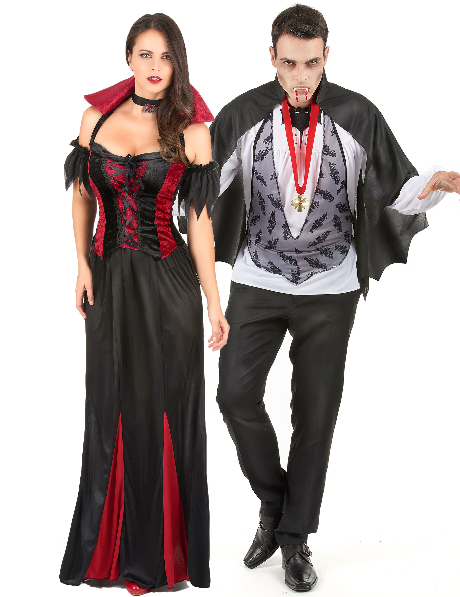 D guisement couple de vampire halloween deguise toi achat de d guisements couples - Deguisement halloween couple ...