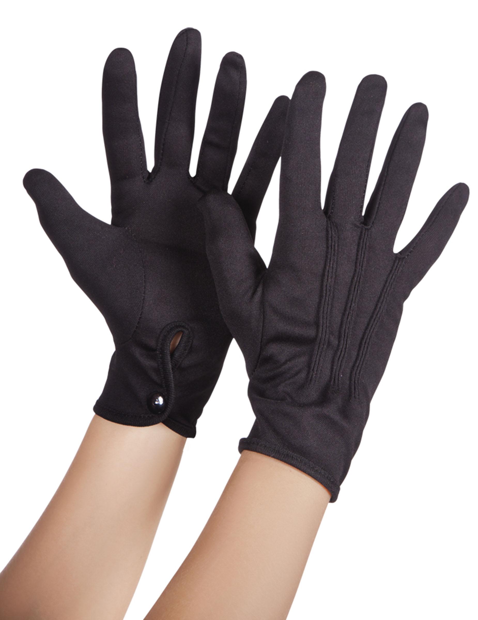 e5a98235695e1 Gants noirs adulte : Deguise-toi, achat de Accessoires