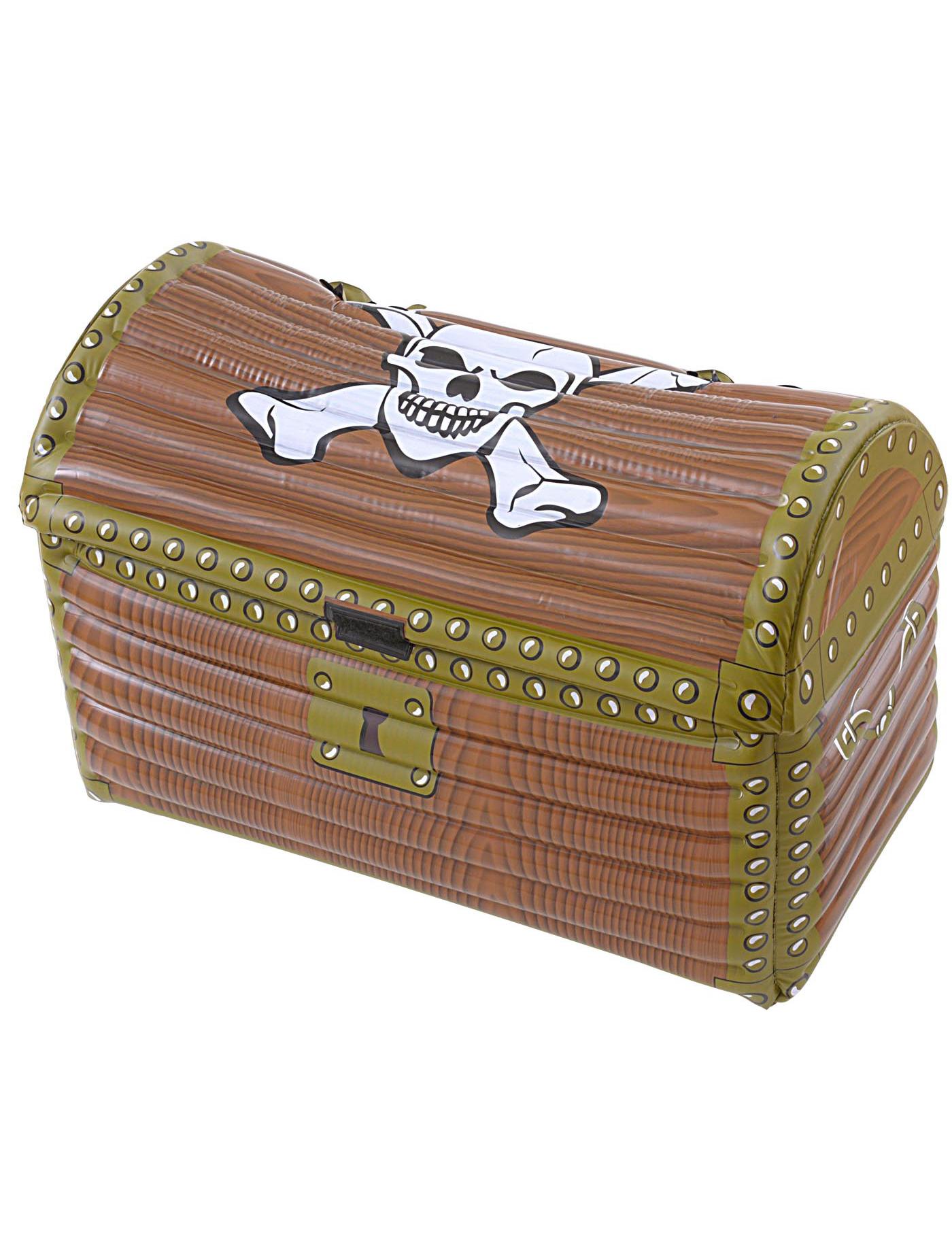 Image Coffre Pirate coffre pirate gonflable : deguise-toi, achat de decoration / animation