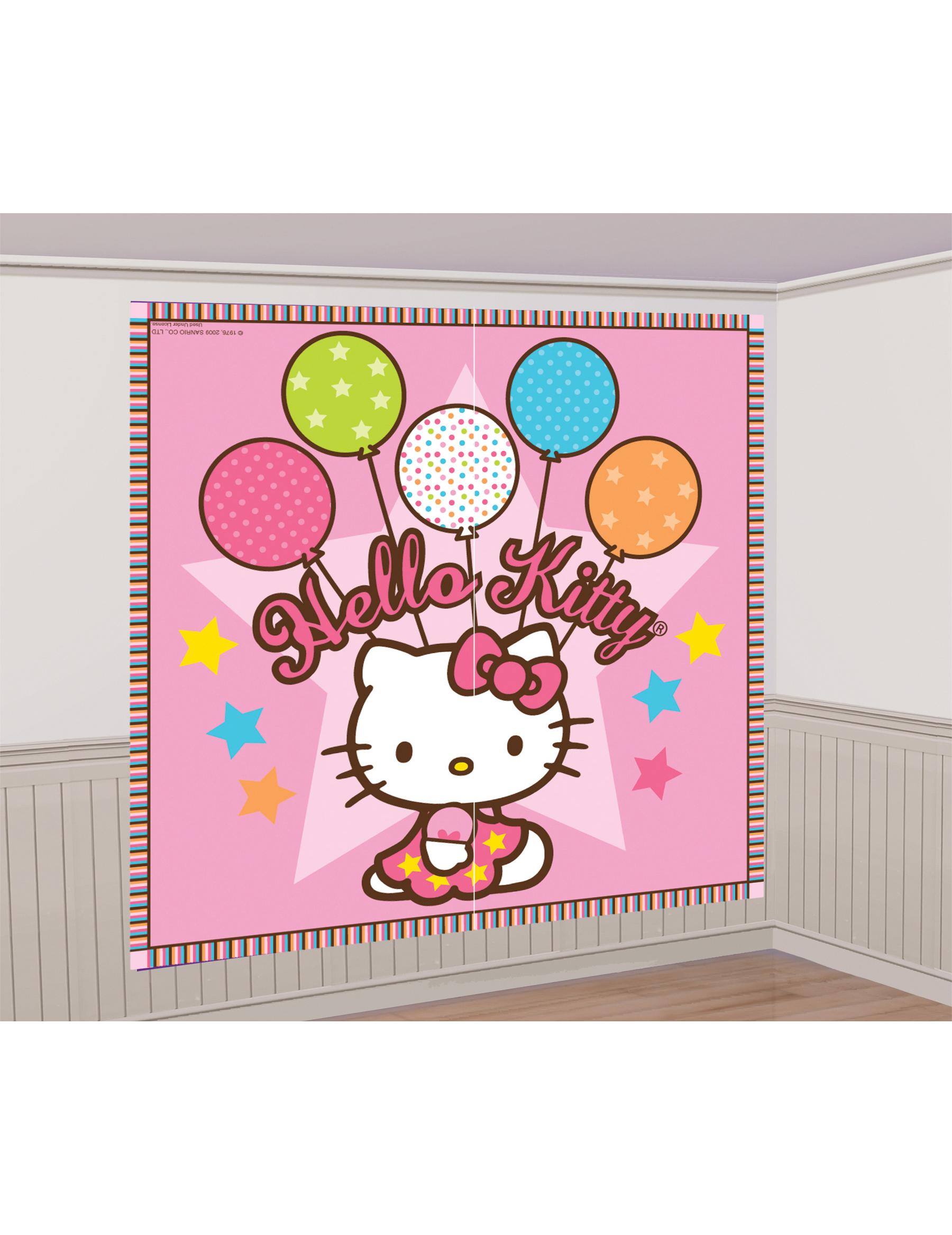 Decorazioni murali hello kitty addobbi e vestiti di for Decorazioni murali