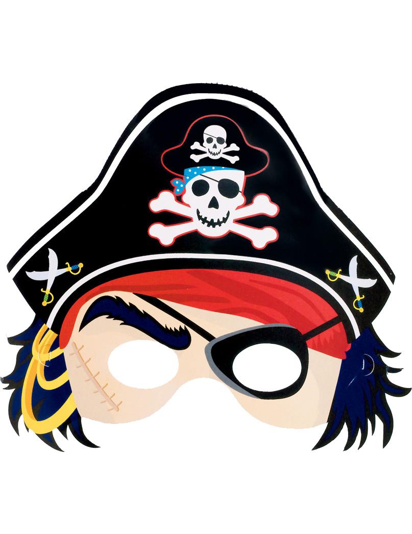 masque en carton de pirate enfant deguise toi achat de masques. Black Bedroom Furniture Sets. Home Design Ideas