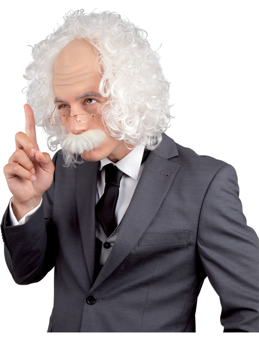Einstein wig : Wigs, and fancy dress costumes - Vegaoo