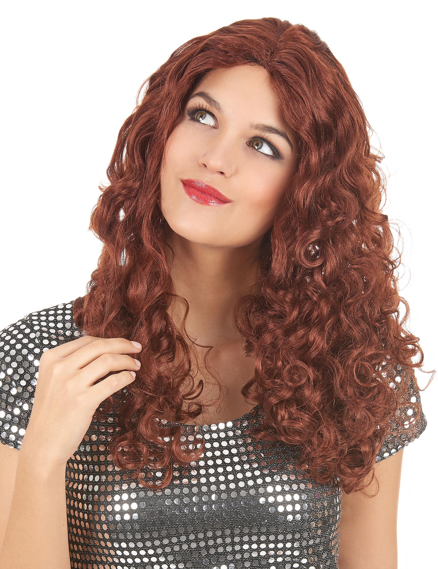 perruque rousse femme pas cher