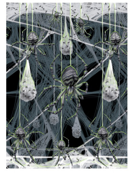 halloween spider web wall decoration