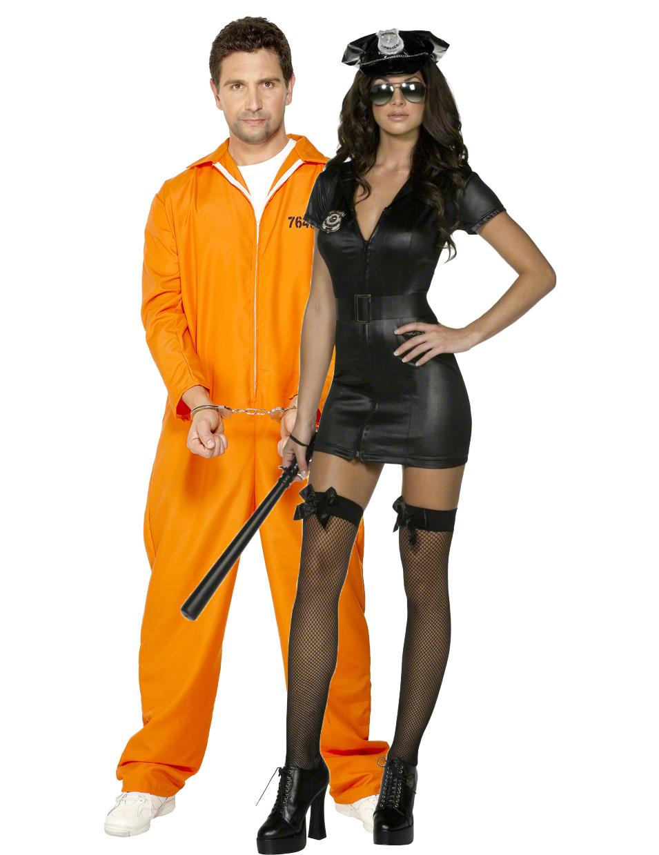 d guisement couple polici re sexy et son prisonnier deguise toi achat de d guisements couples. Black Bedroom Furniture Sets. Home Design Ideas