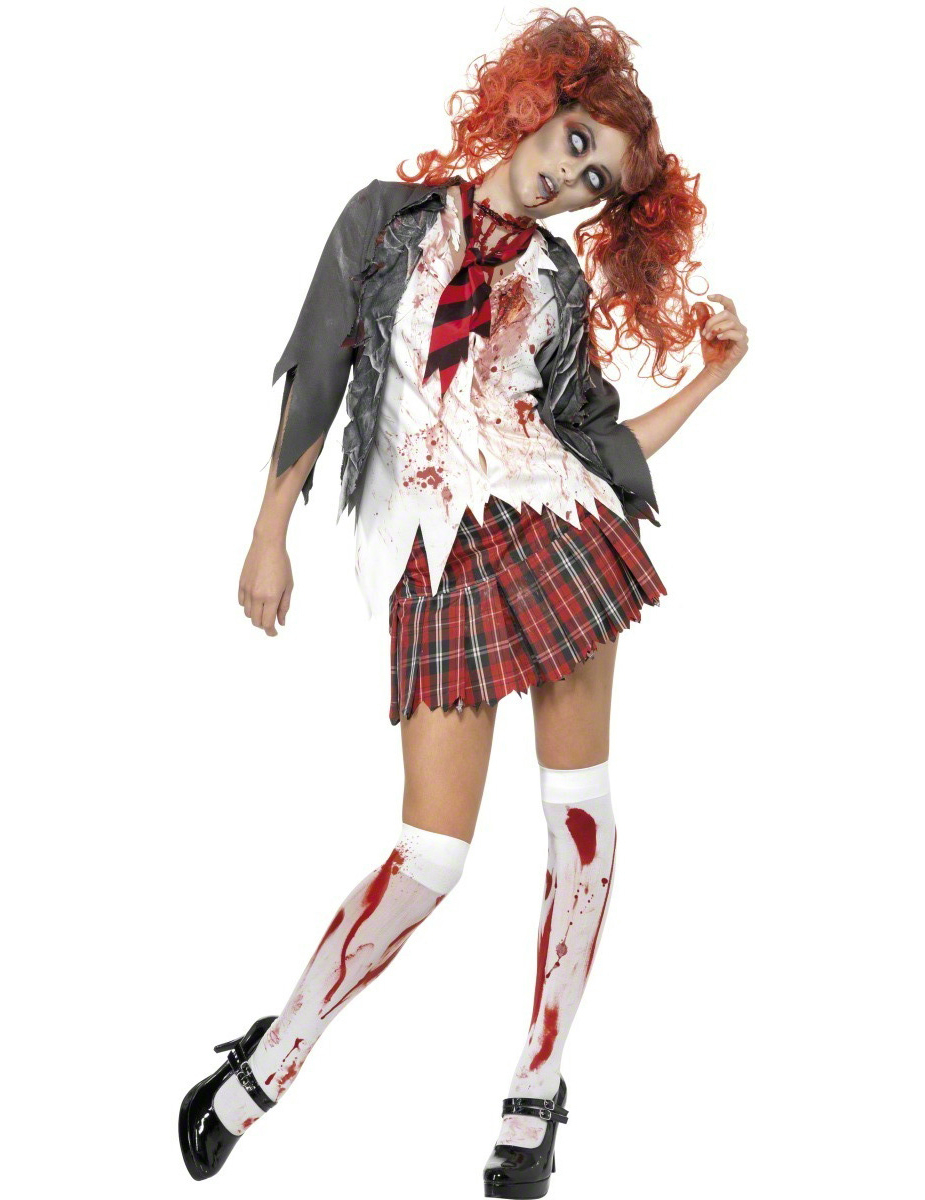 d guisement ecoliere zombie halloween deguisetoi. Black Bedroom Furniture Sets. Home Design Ideas