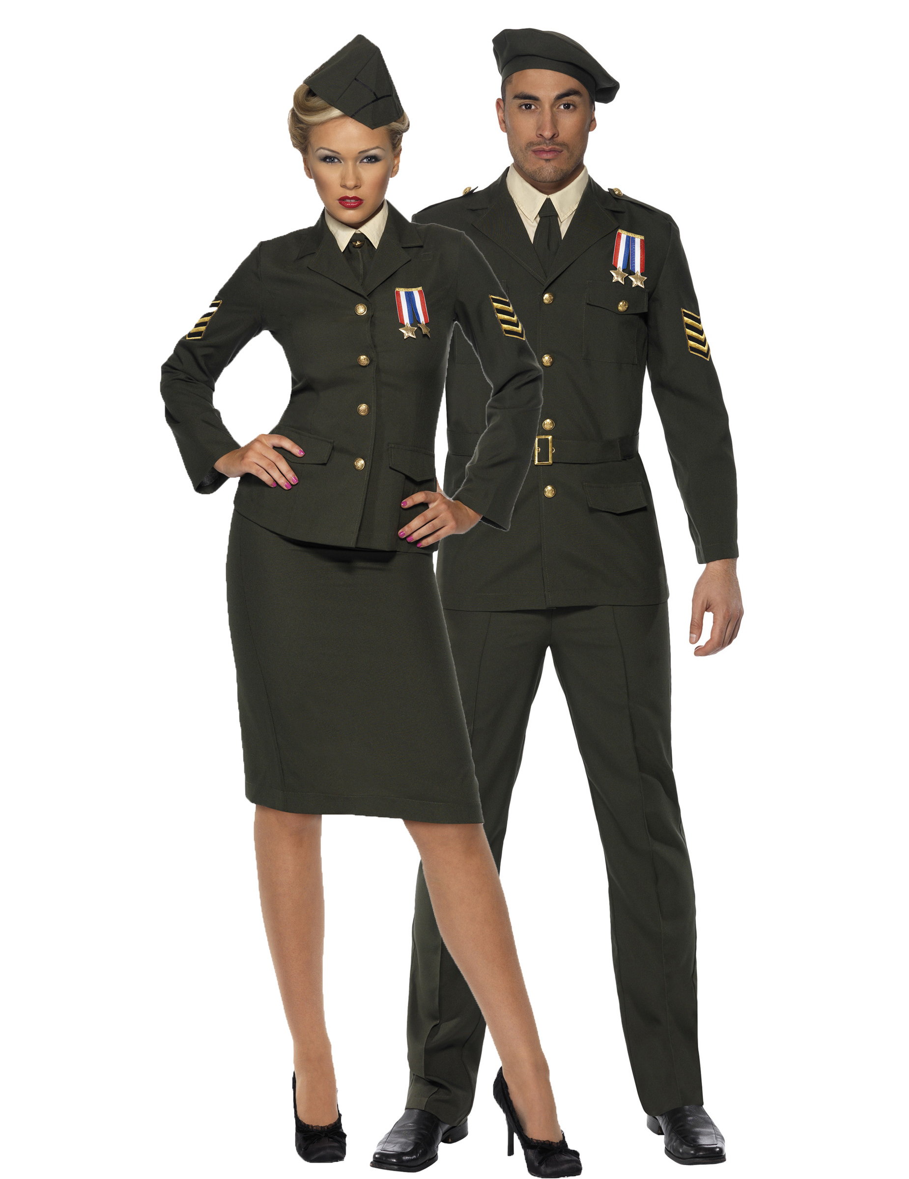 D guisement couple officiers militaires deguise toi achat de d guisements couples - Deguisement halloween couple ...