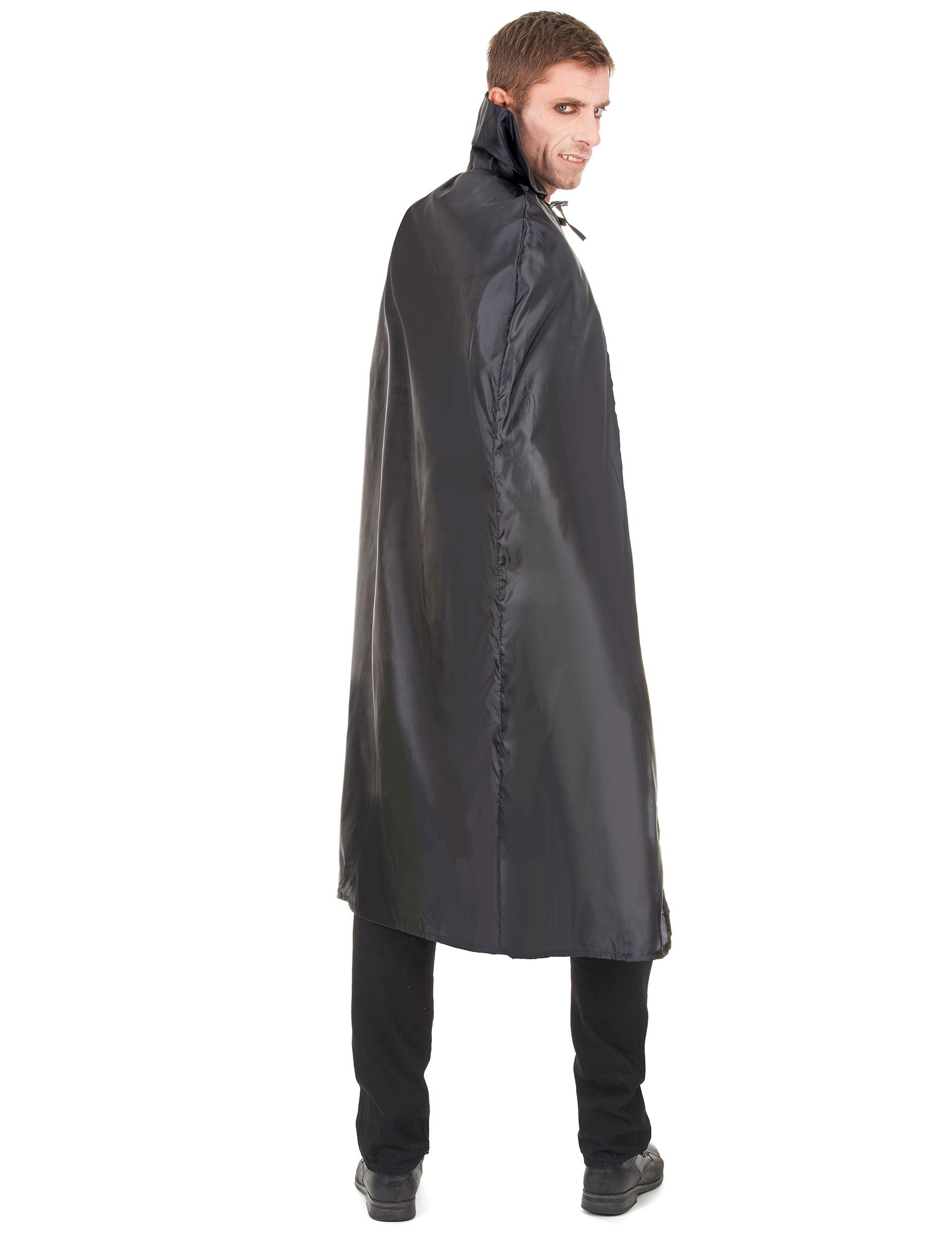messieurs Dracula vampire cape noir avec capuche