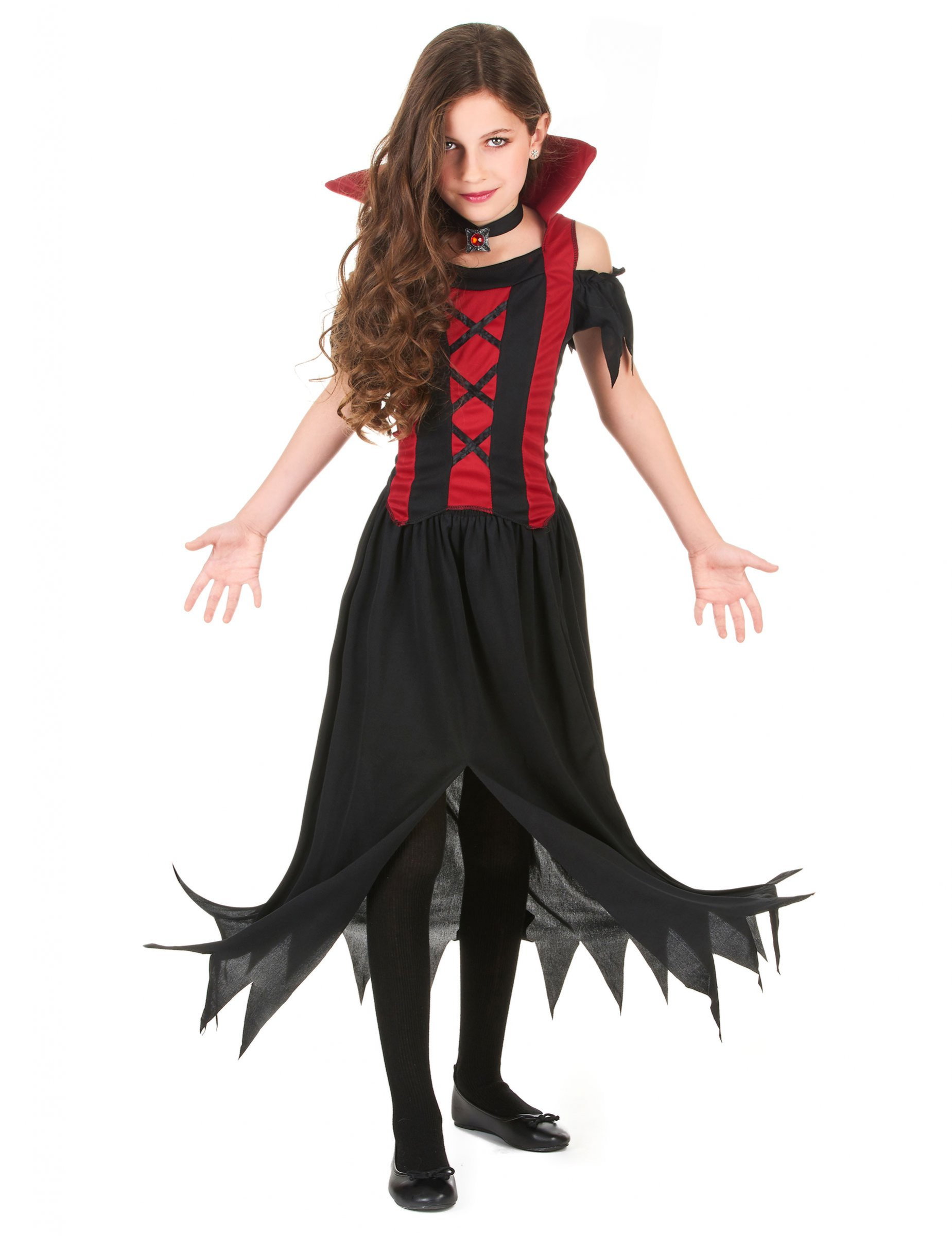 d guisement vampire rouge fille halloween deguise toi achat de d guisements enfants. Black Bedroom Furniture Sets. Home Design Ideas
