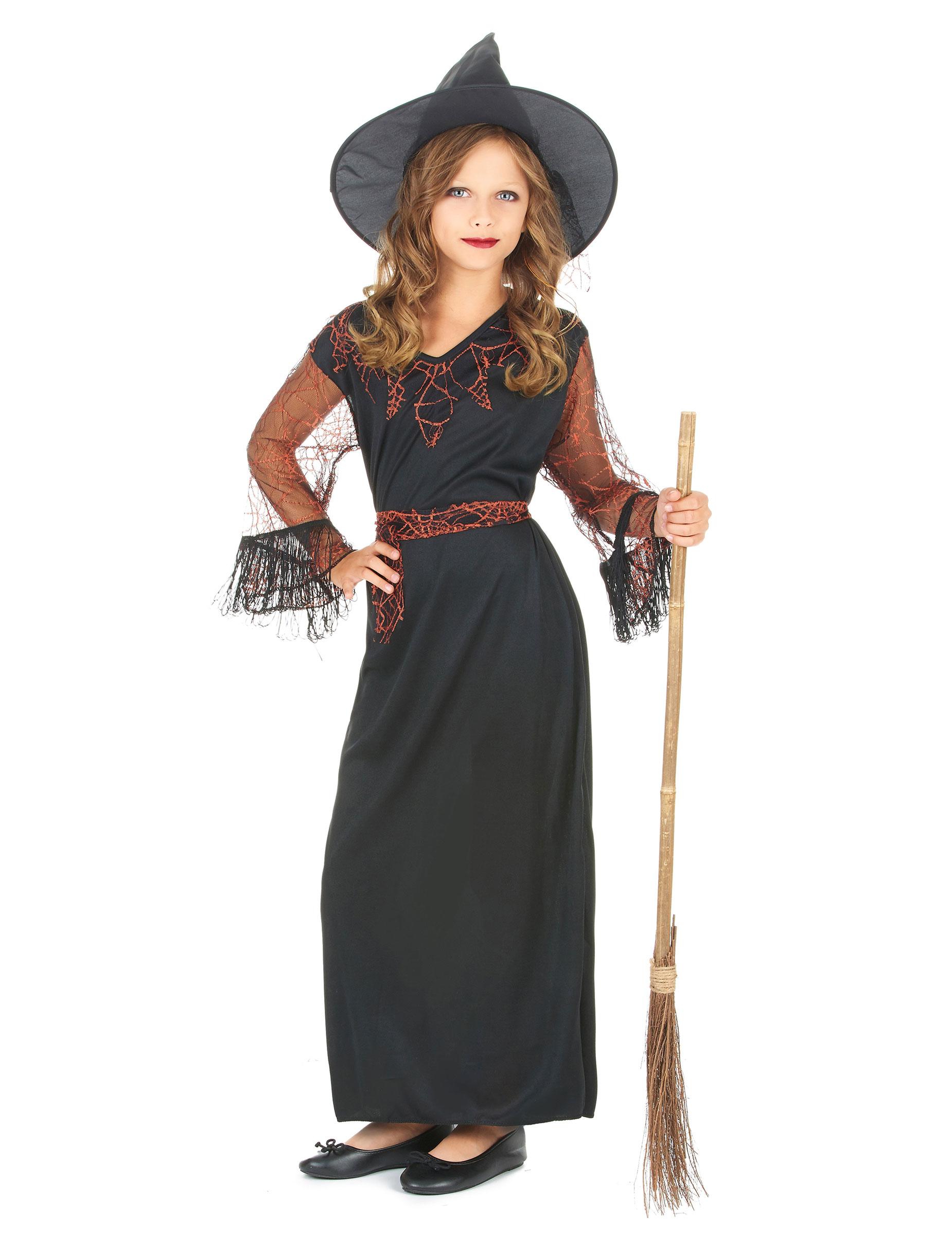 d guisement sorci re noir fille halloween deguise toi achat de d guisements enfants. Black Bedroom Furniture Sets. Home Design Ideas