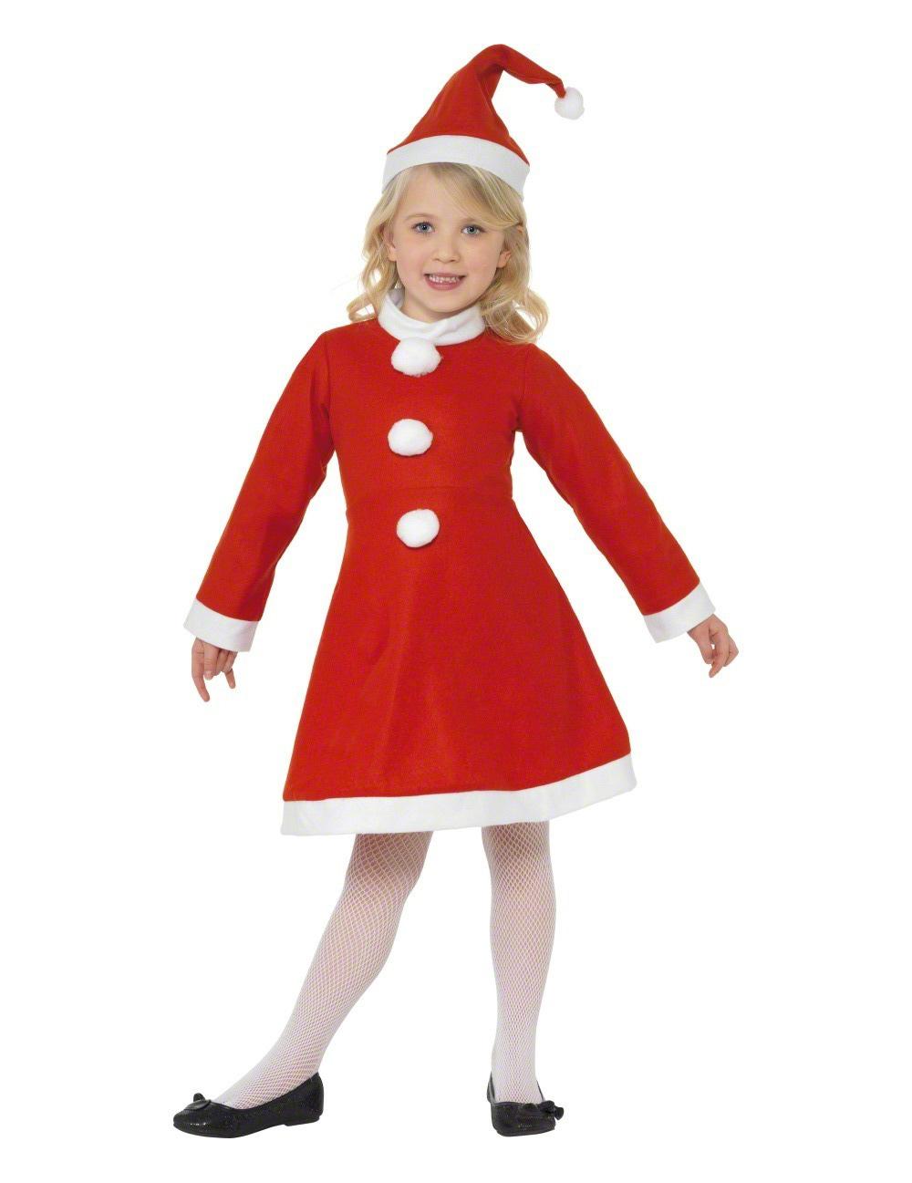 2baad57d74af5 Déguisement Mère Noël robe pompons fille   Deguise-toi