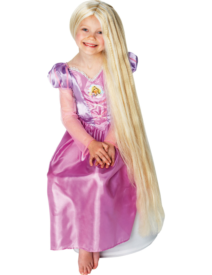 Perruque luminescente princesse Raiponce.