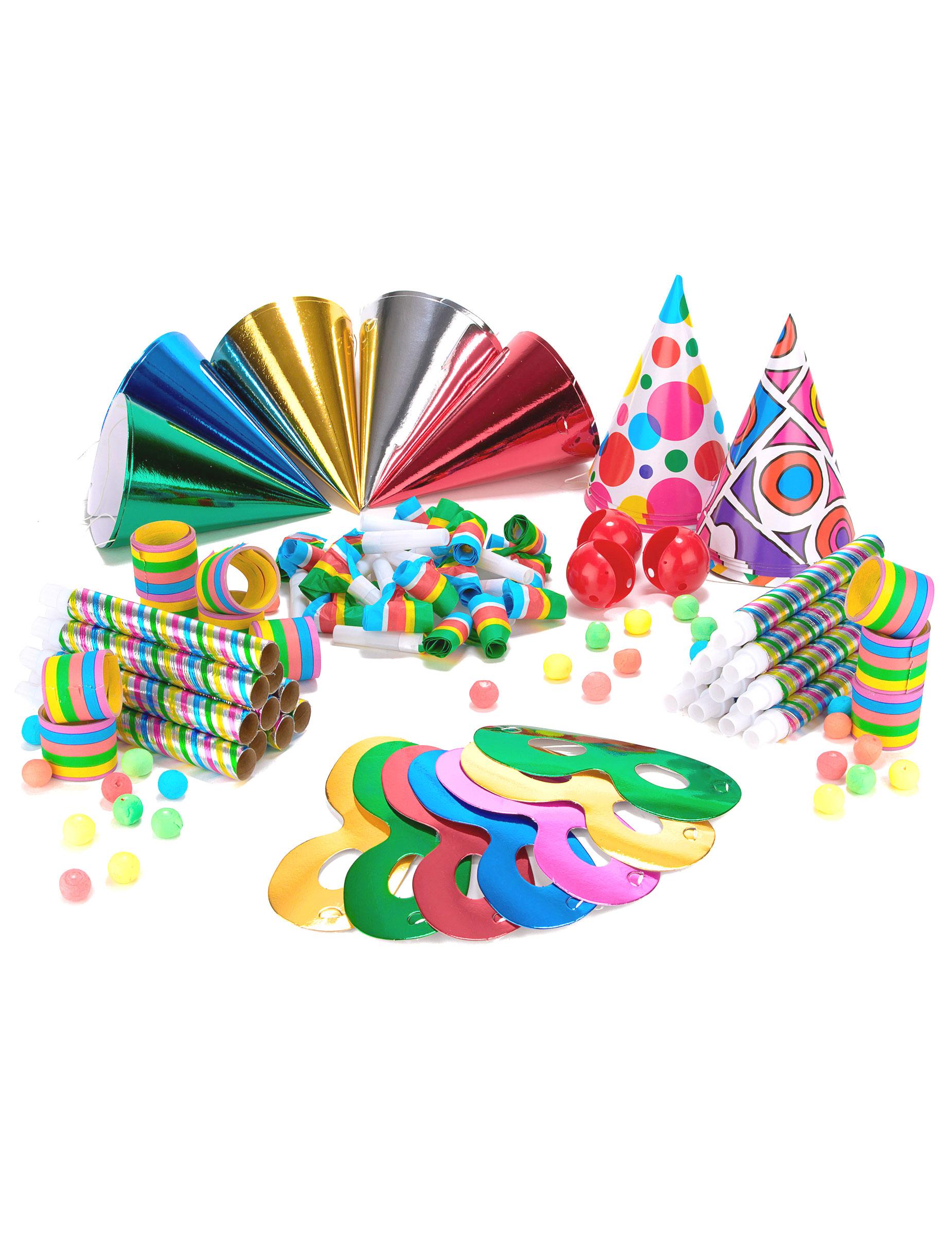 Kit cotillons multicolores 20 personnes deguise toi achat de decoration animation - Image cotillons fete ...
