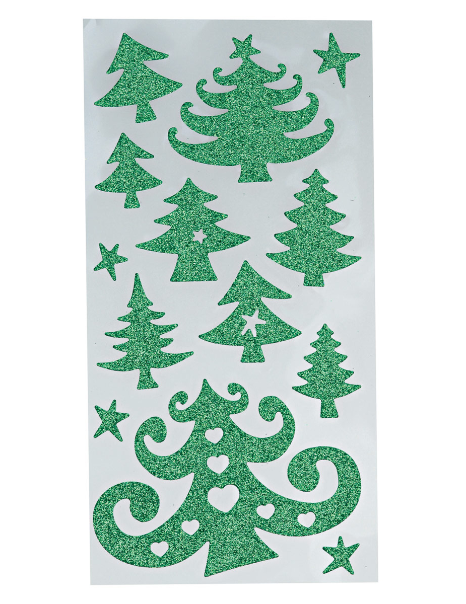 Christmas three stickers - Stickers sapin de noel design ...