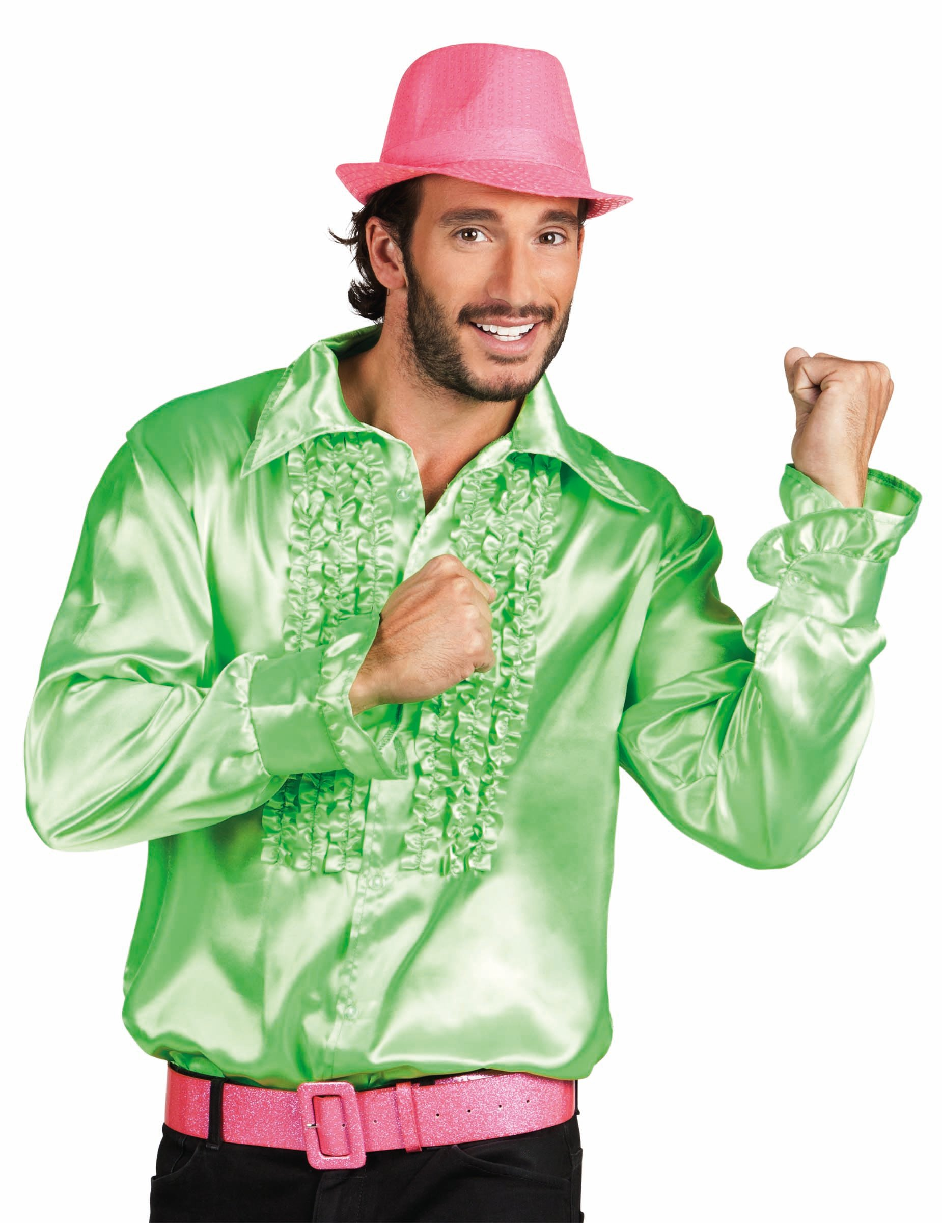 chemise disco verte pour hommes deguisetoi. Black Bedroom Furniture Sets. Home Design Ideas