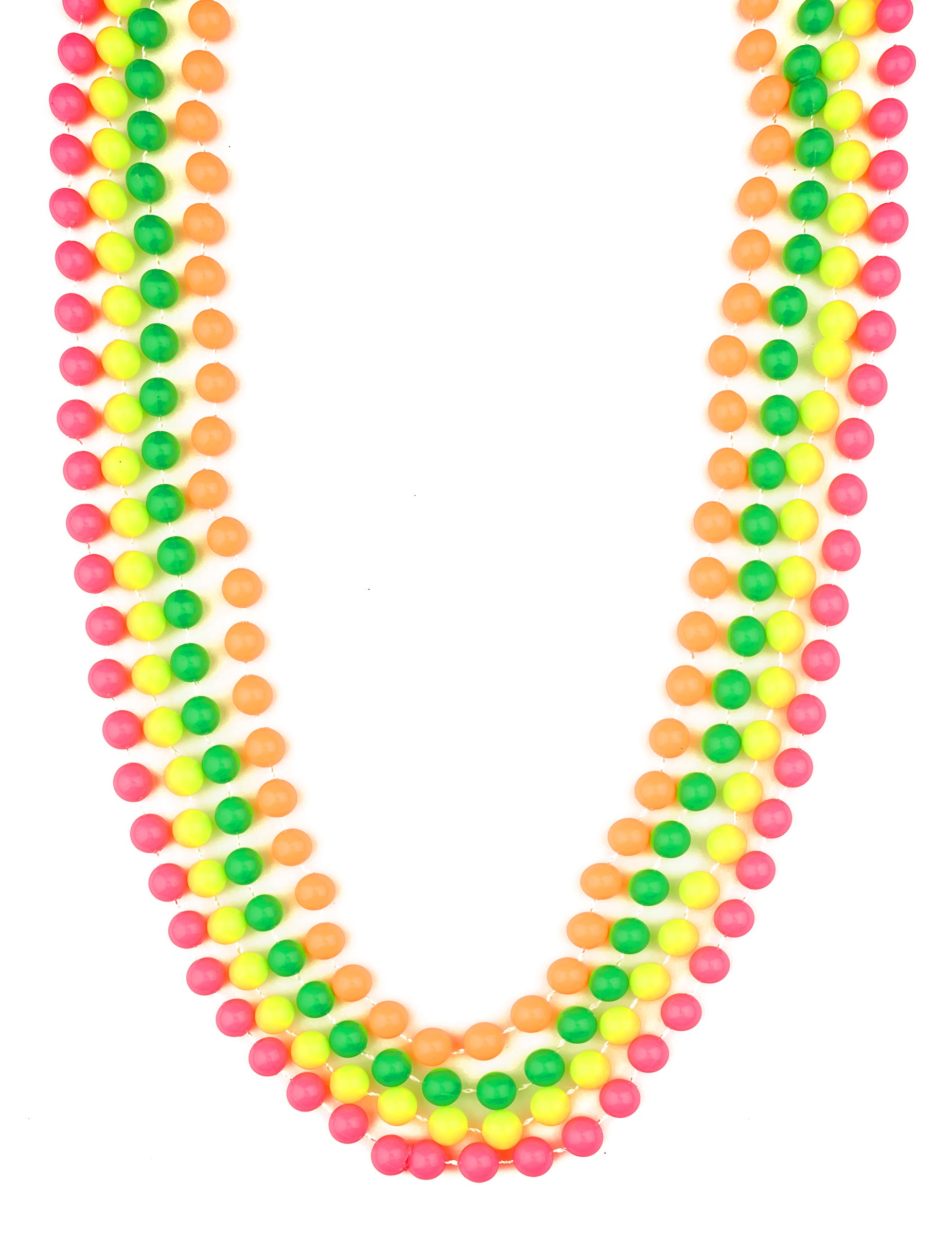 collier perle fluo