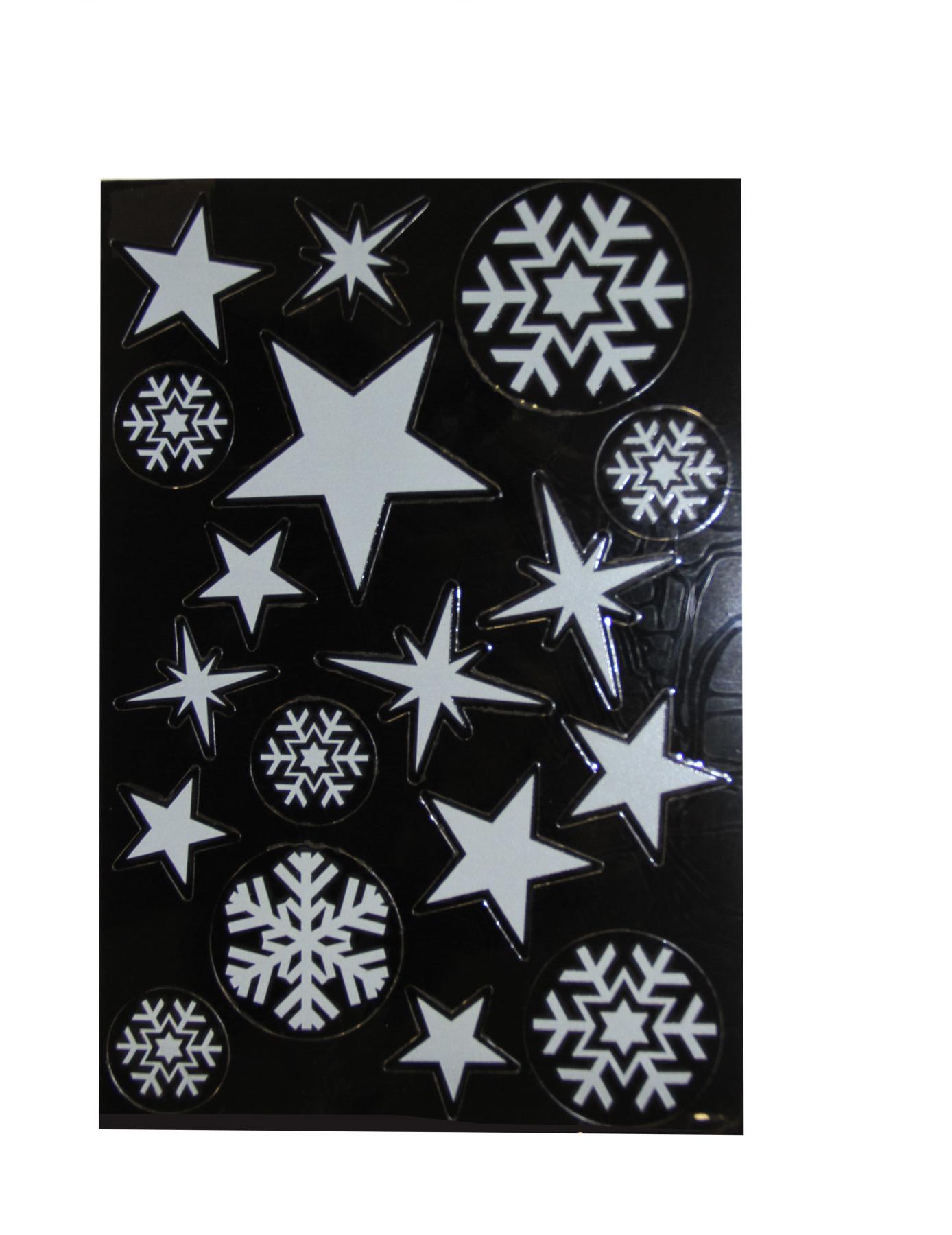 Pegatinas de estrellas de navidad y copos de nieve for Estrella de nieve