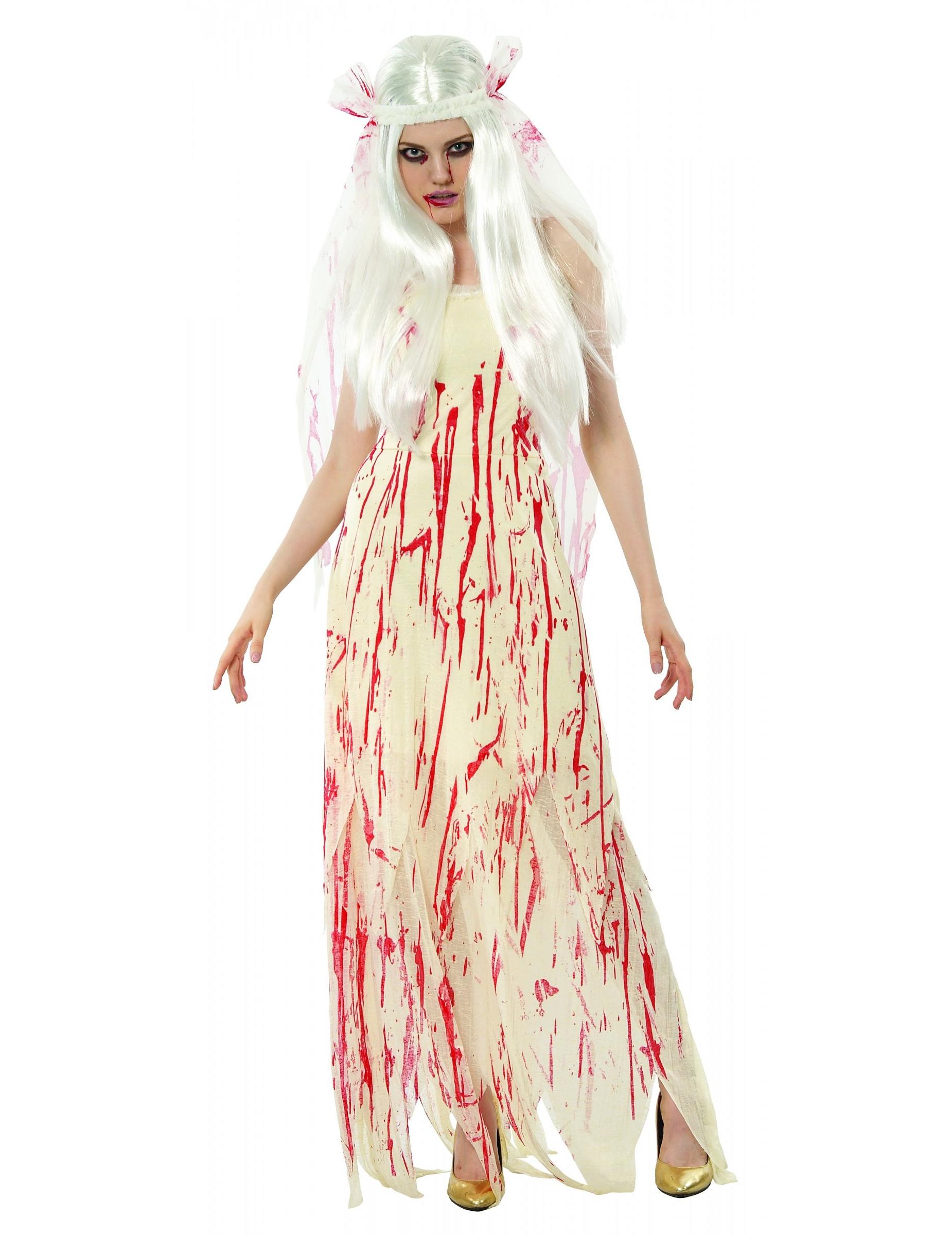 bloody bride costume halloween. Black Bedroom Furniture Sets. Home Design Ideas