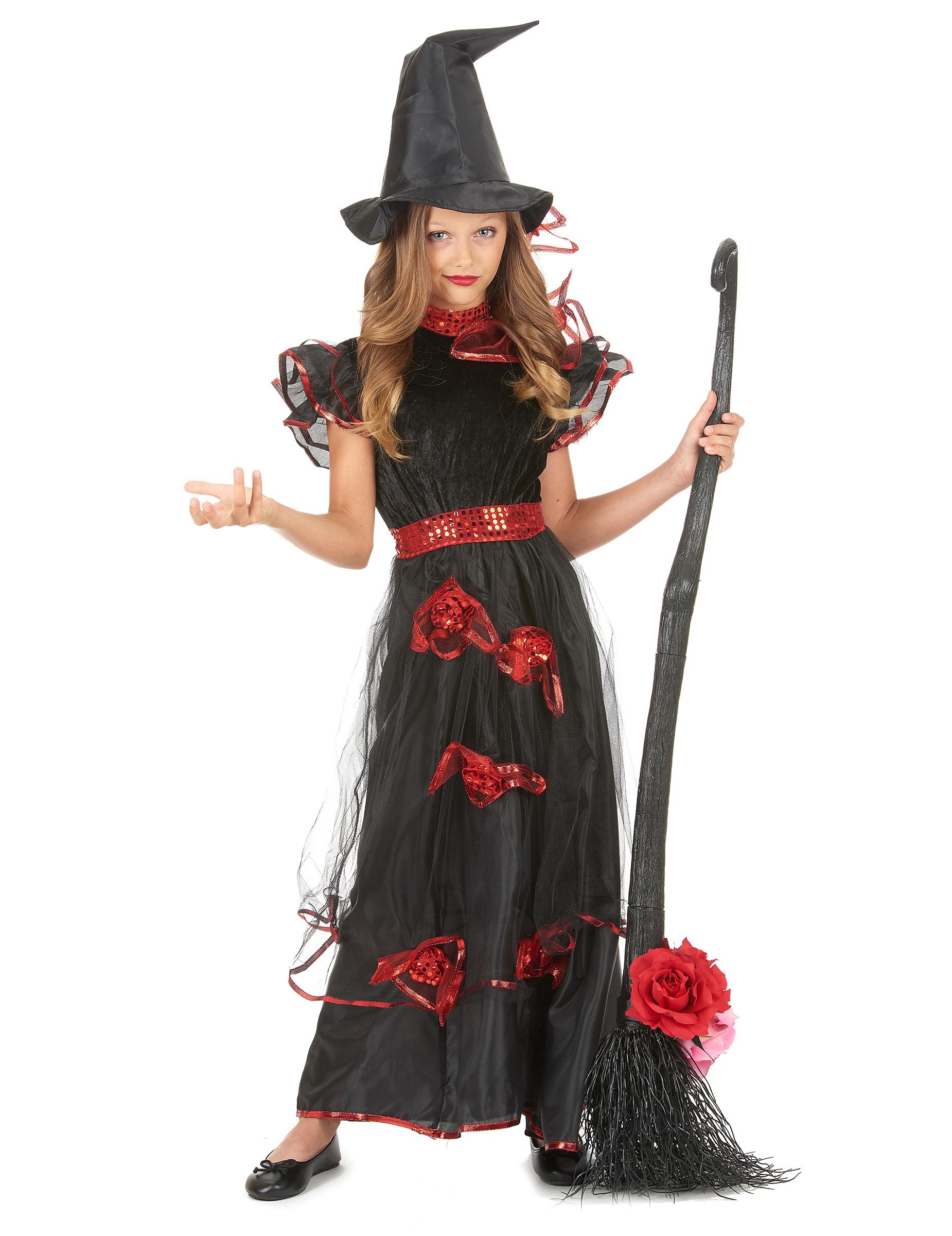 d guisement sorci re roses rouge fille deguise toi achat de d guisements enfants. Black Bedroom Furniture Sets. Home Design Ideas