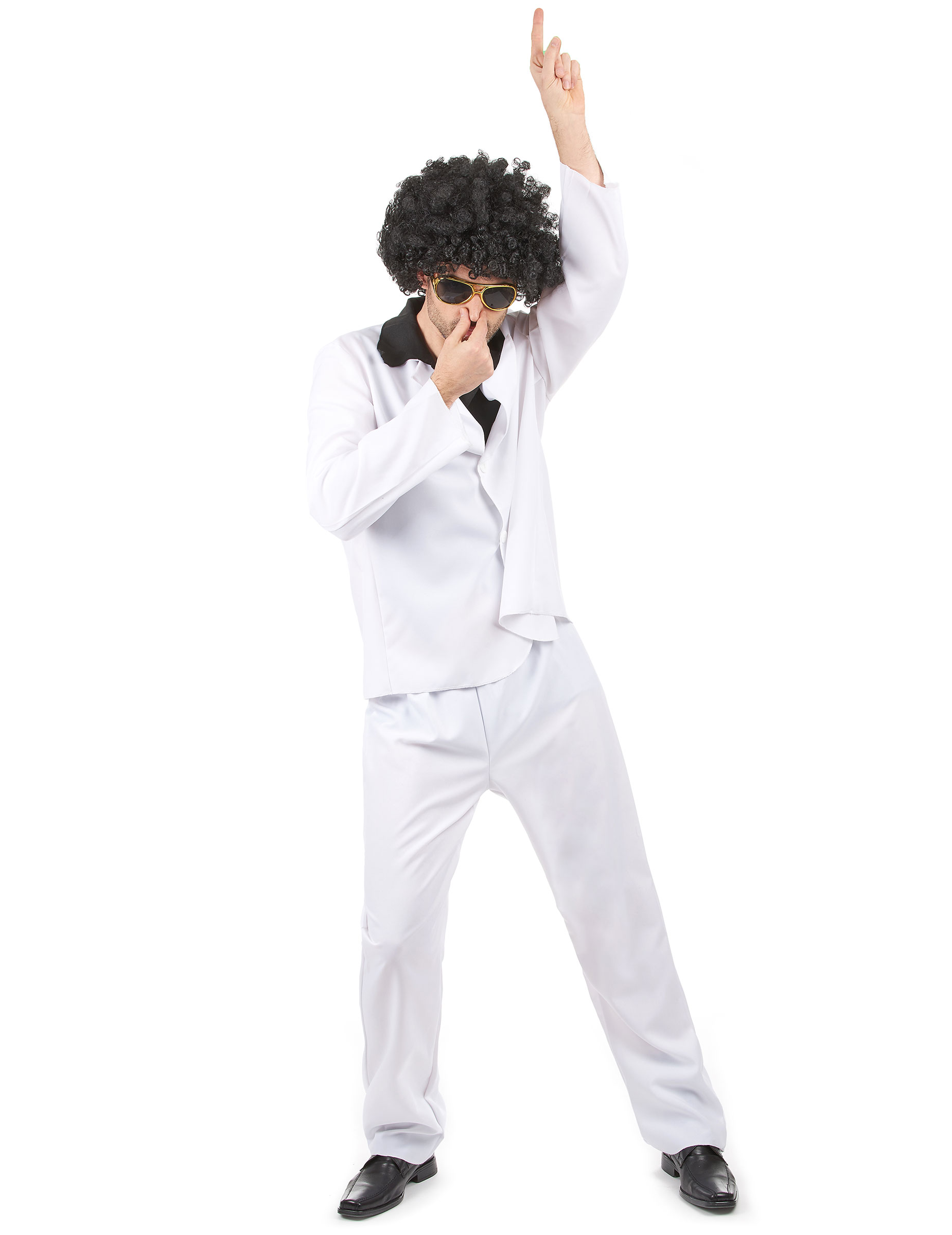 d guisement disco homme costume blanc chemise noire deguise toi achat de d guisements adultes. Black Bedroom Furniture Sets. Home Design Ideas