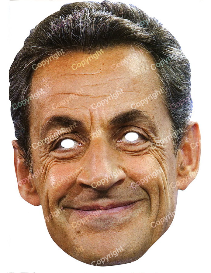 masque carton nicolas sarkozy deguise toi achat de masques. Black Bedroom Furniture Sets. Home Design Ideas