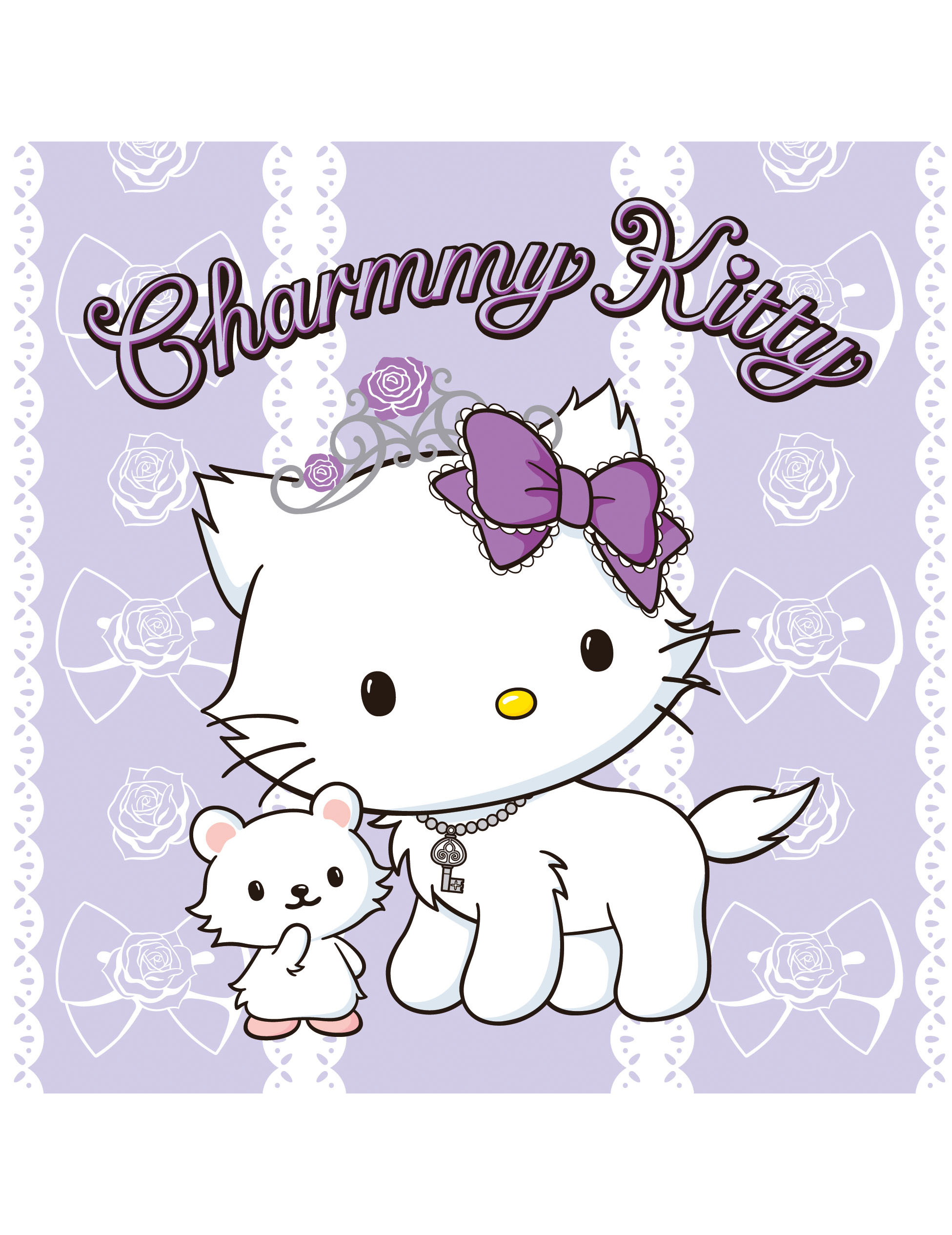 charmmy kitty� napkins decorations and fancy dress