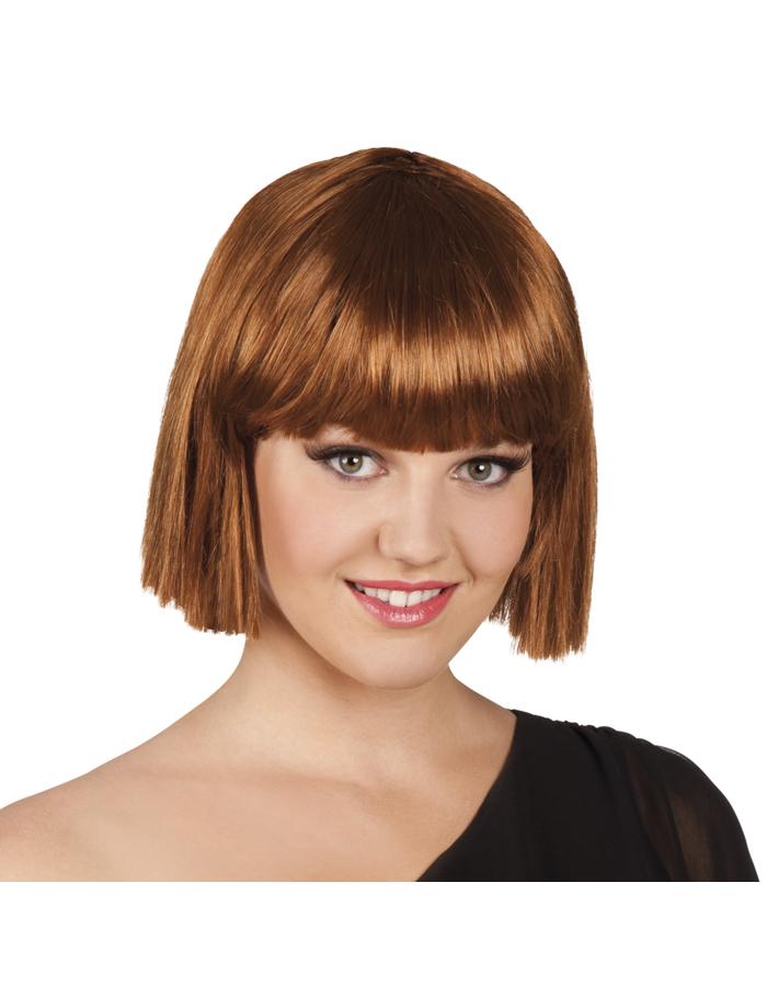 perruque courte frange marron femme achat de perruques. Black Bedroom Furniture Sets. Home Design Ideas
