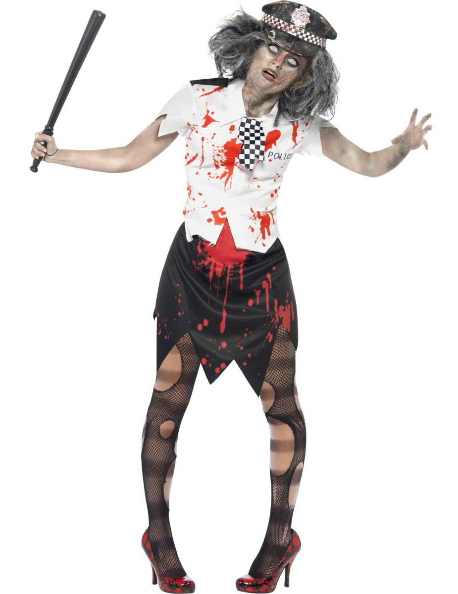 D guisement polici re zombie adulte halloween femme - Halloween adulte ...