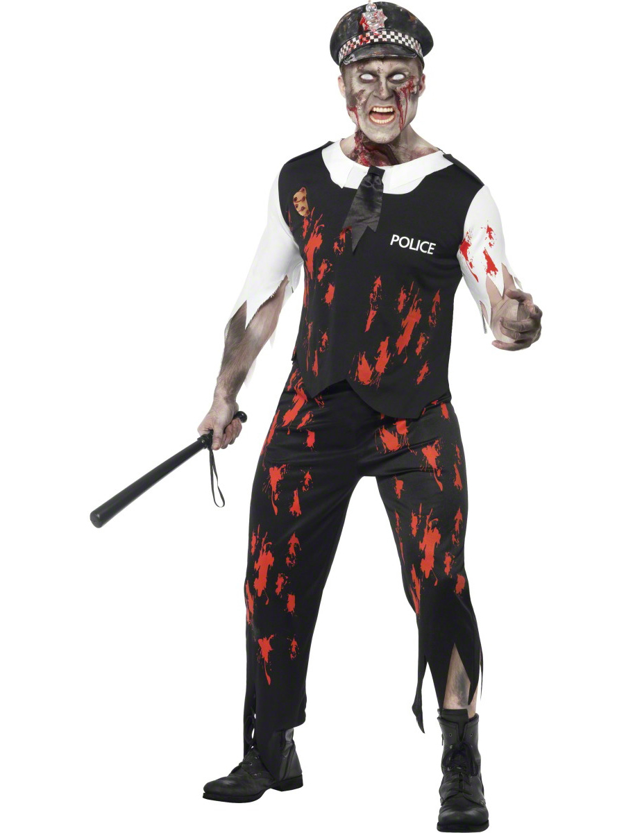 d guisement policier zombie adulte halloween homme. Black Bedroom Furniture Sets. Home Design Ideas