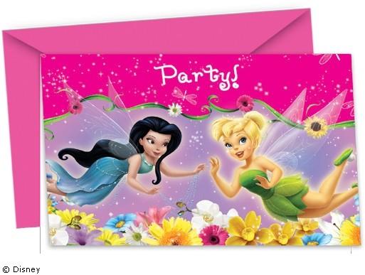 6 cartes d 39 invitation clochette et ses amies deguise - Clochette et ses amies ...