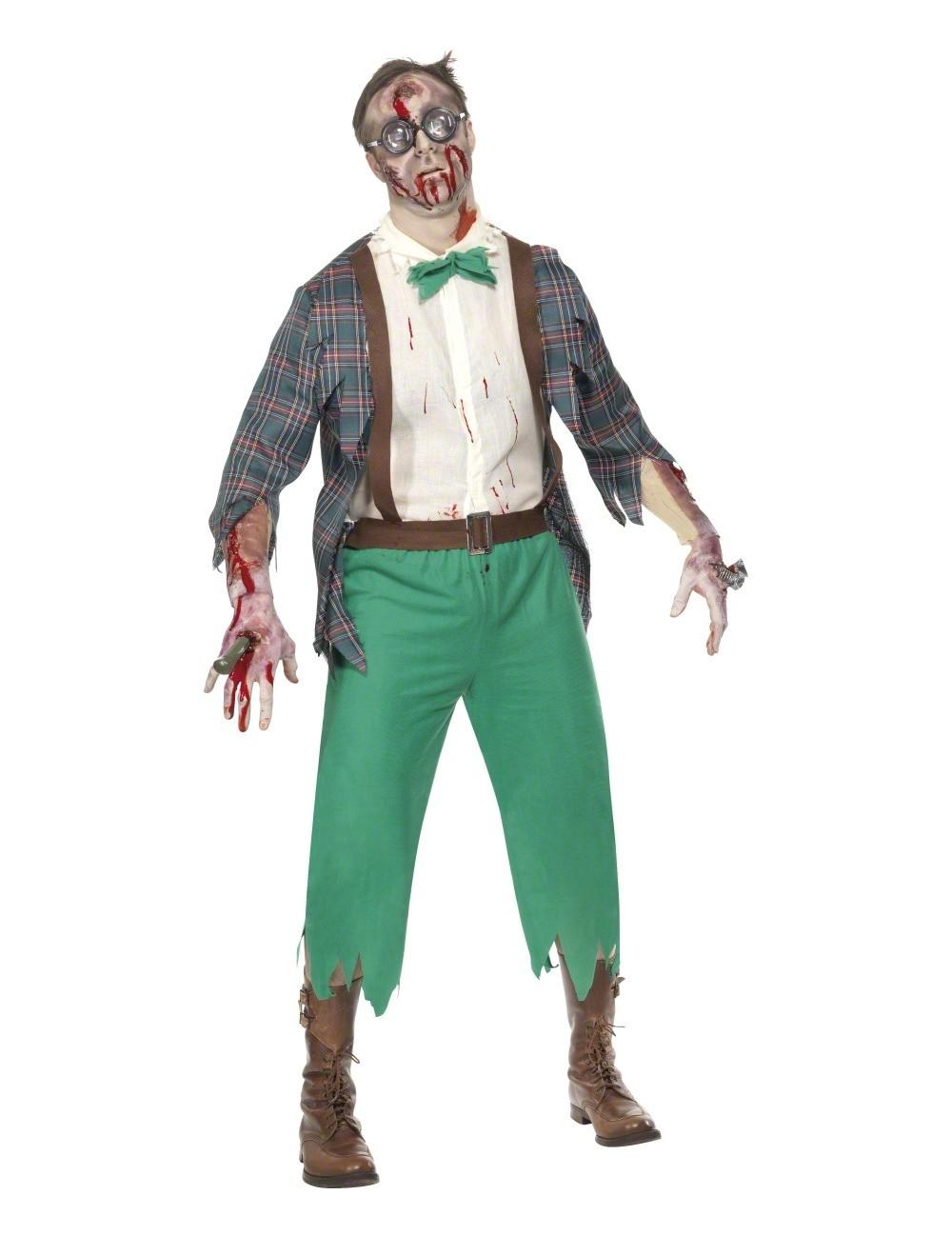 Zombie geek costume for Comcostume halloween homme original