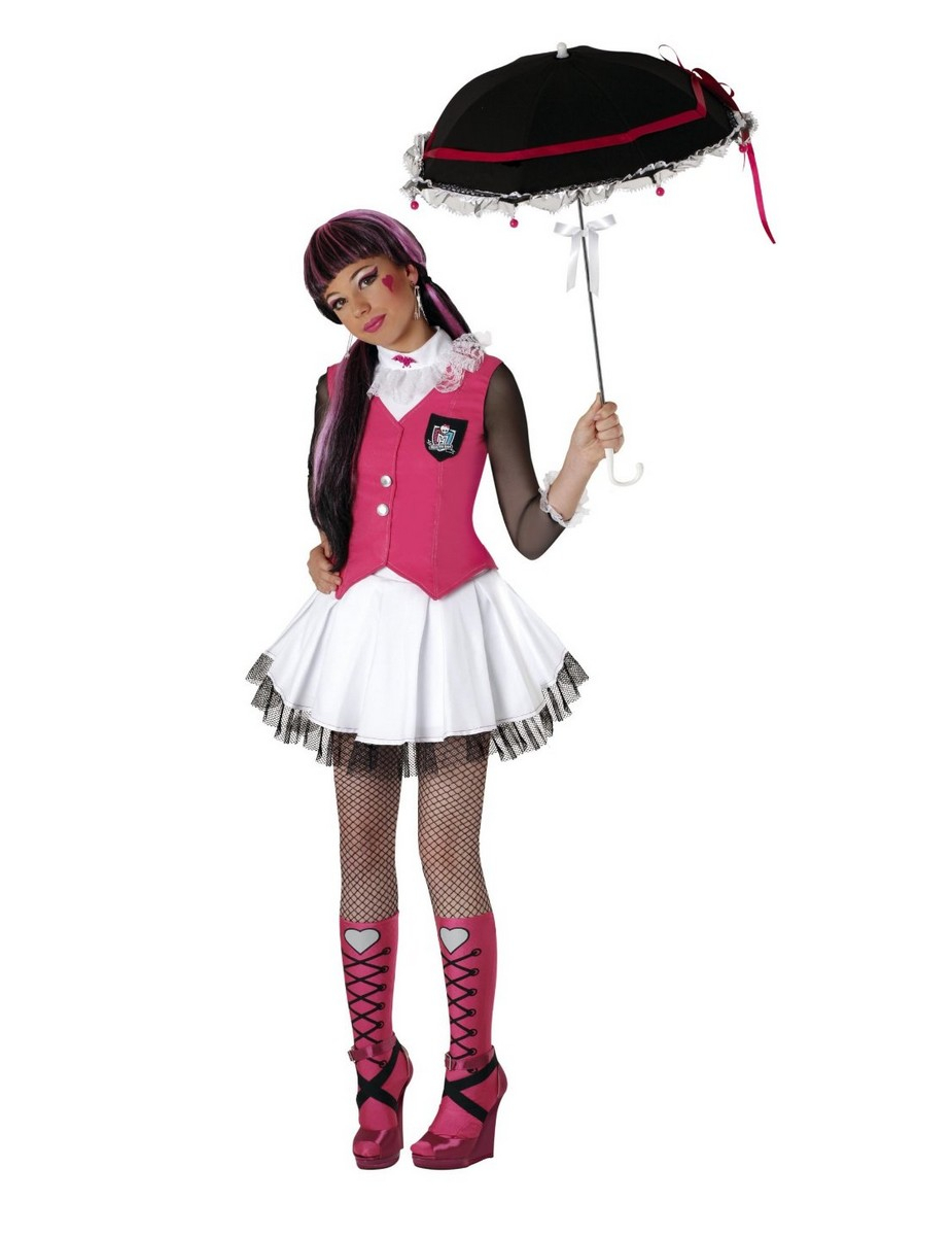 Pt   Disfarces Crian  As   Disfarce Draculaura Monster High    Menina