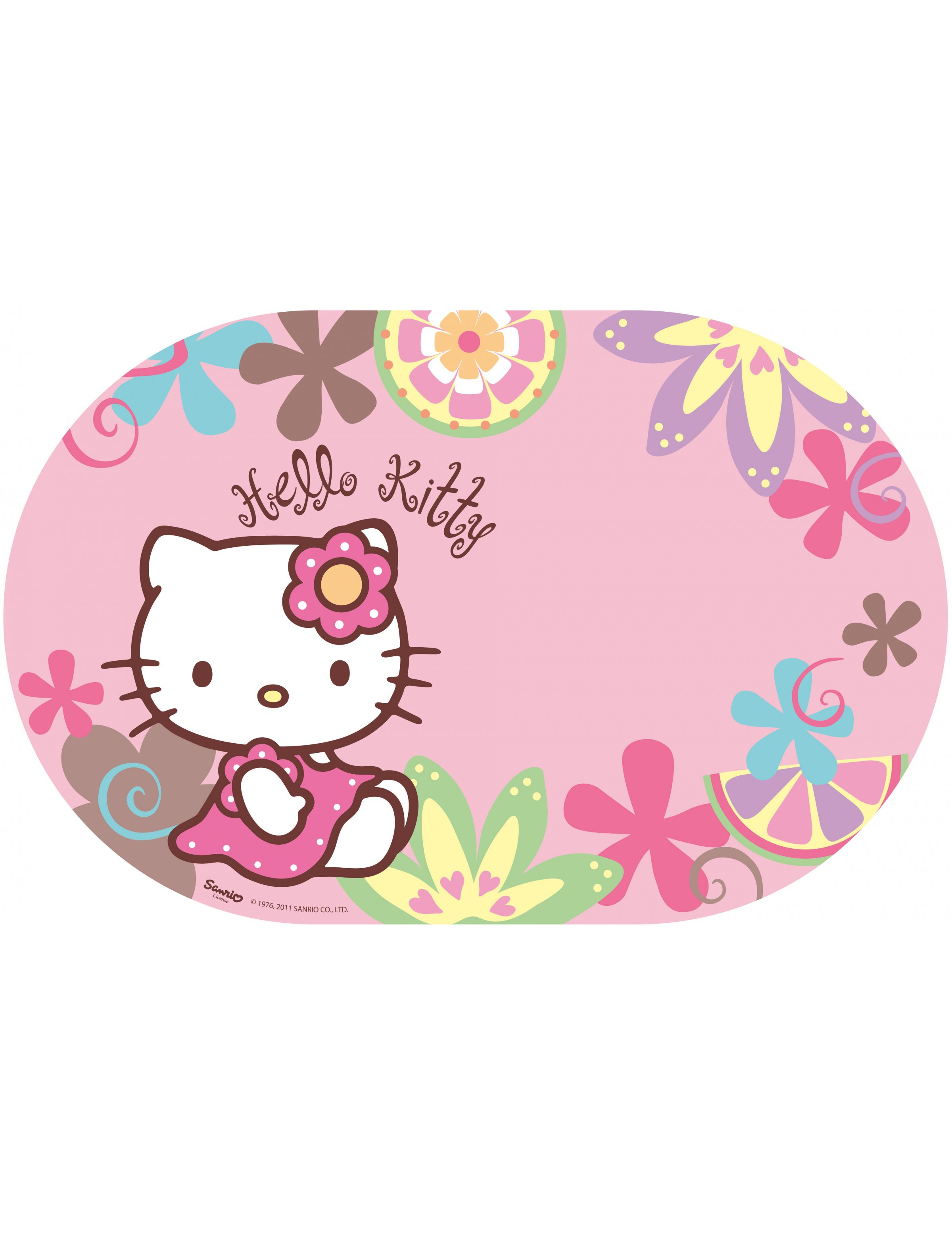 Hello Kitty Bamboo Table Set Decorations And Fancy