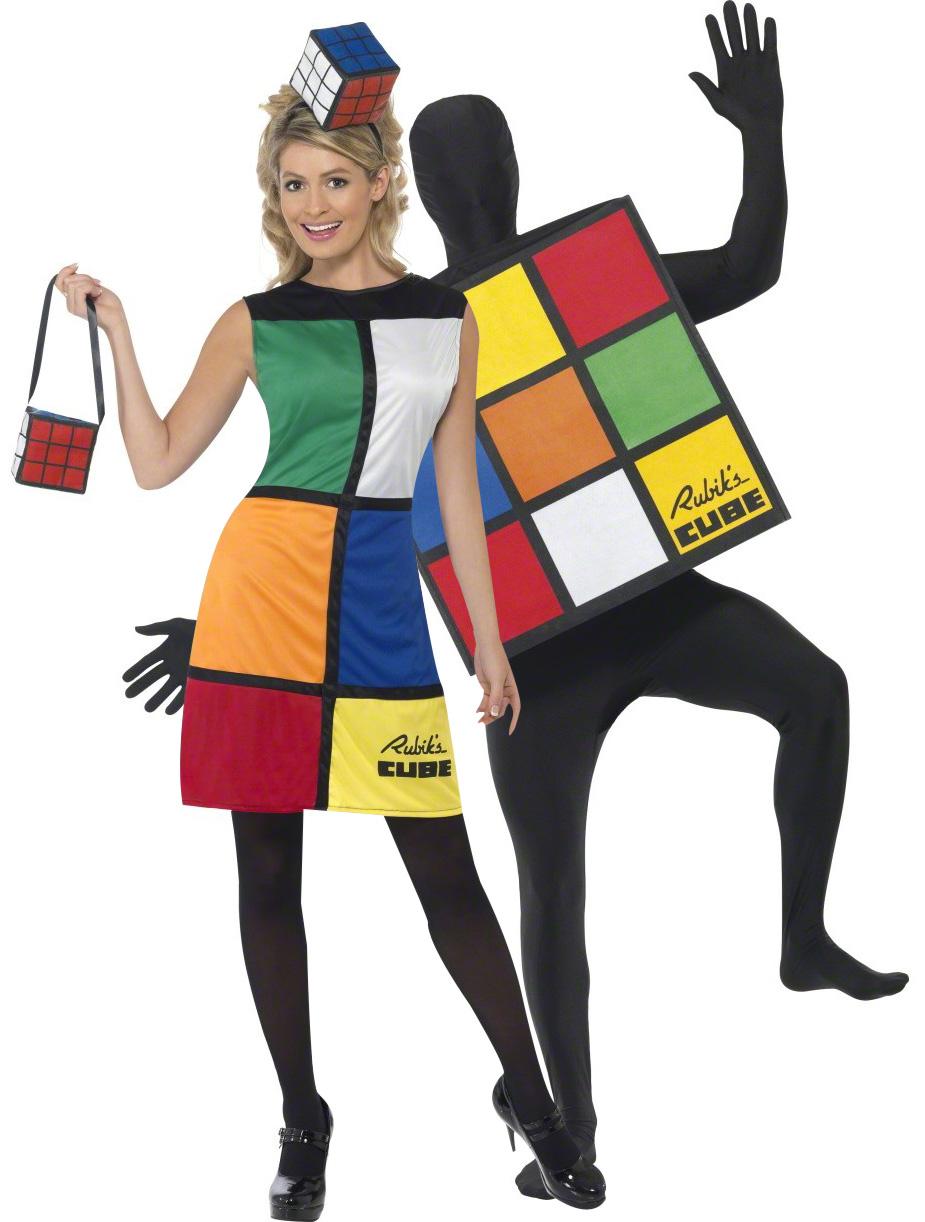 d guisement couple rubik 39 s cube deguise toi achat de. Black Bedroom Furniture Sets. Home Design Ideas