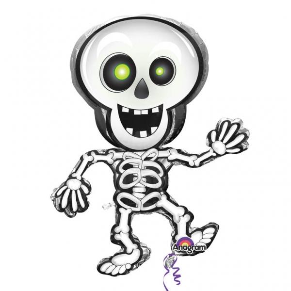 Squelette Dessin Halloween.Ballon Alluminium Squelette Halloween