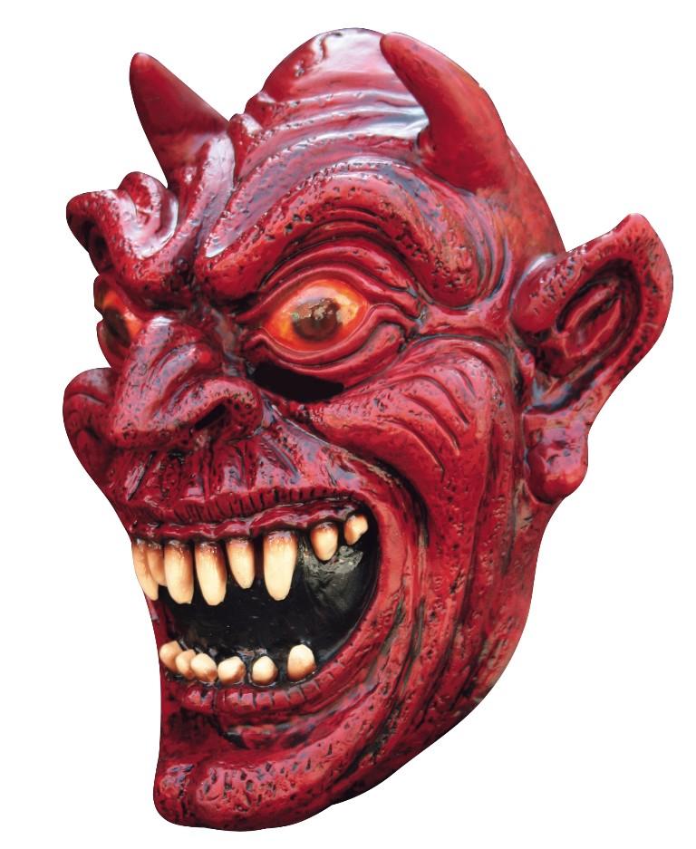 The Devil S Music De Maskers: Masque Démon Rouge Adulte Halloween 100% Latex : Deguise