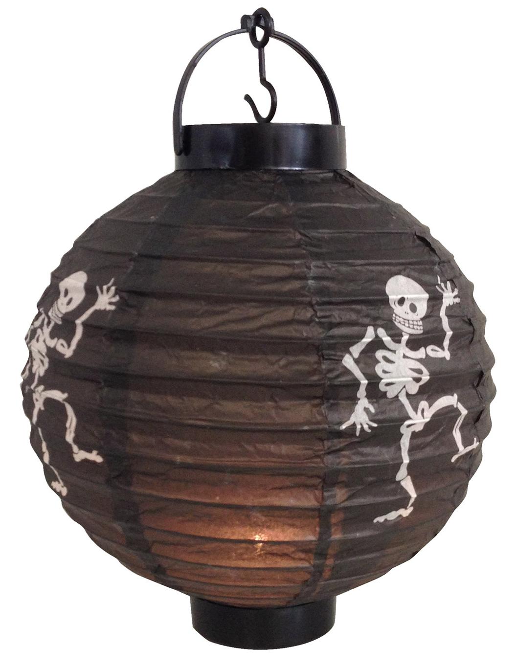 laterne mit skelett muster deko und g nstige faschingskost me vegaoo. Black Bedroom Furniture Sets. Home Design Ideas