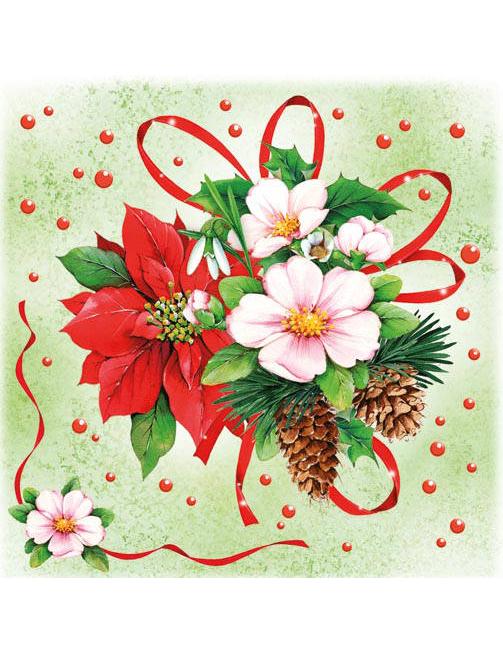 20 serviettes fleurs d 39 hiver no l deguise toi achat de decoration animation. Black Bedroom Furniture Sets. Home Design Ideas