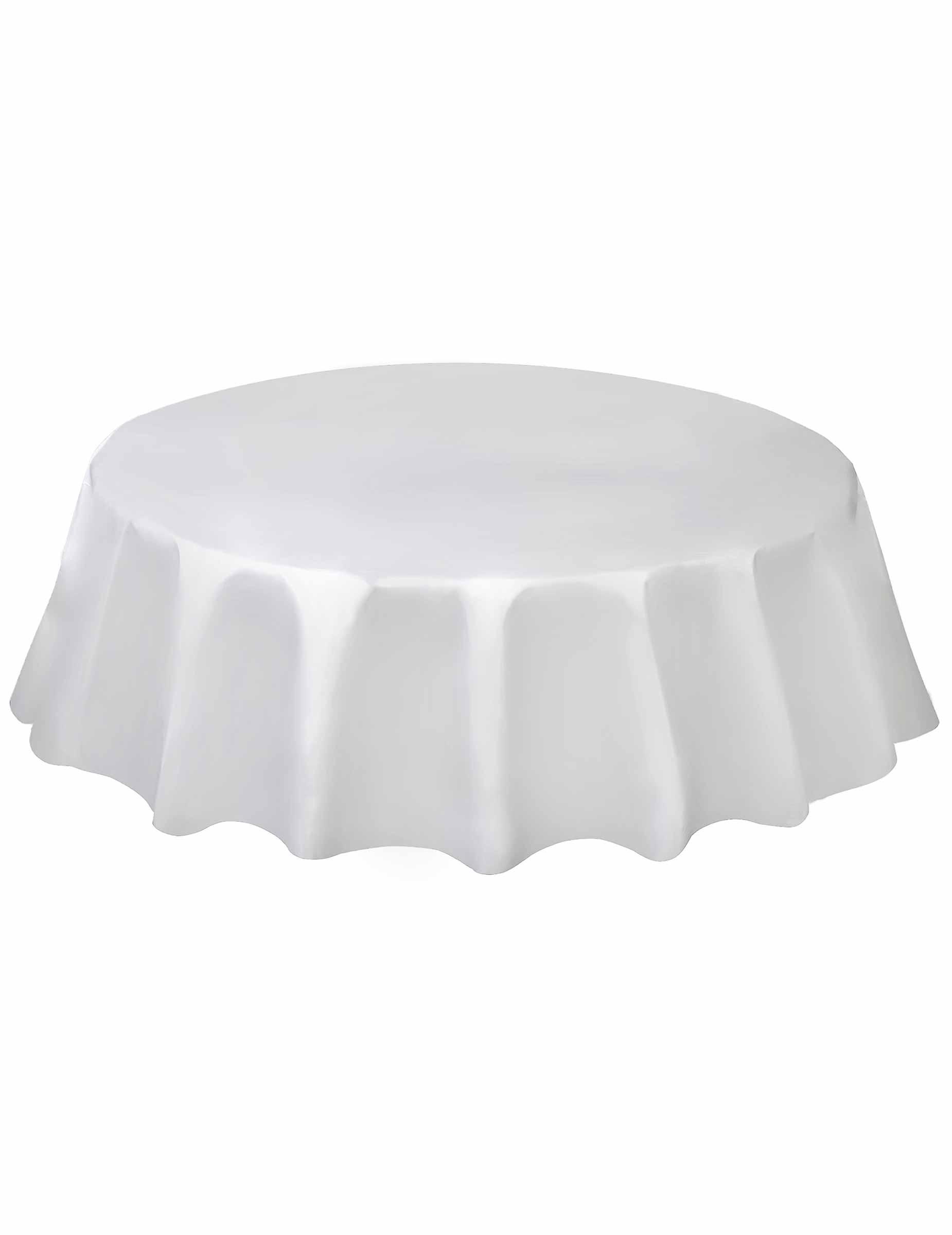 nappe ronde en plastique blanche 213 cm deguise toi achat de decoration animation. Black Bedroom Furniture Sets. Home Design Ideas