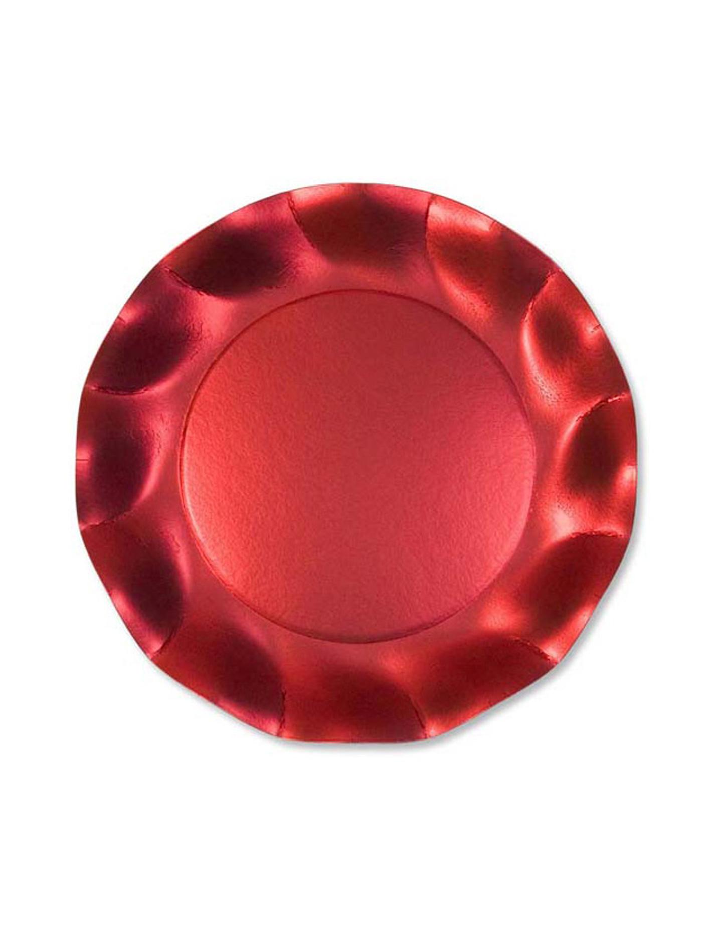 10 assiettes dessert rouges satin es. Black Bedroom Furniture Sets. Home Design Ideas