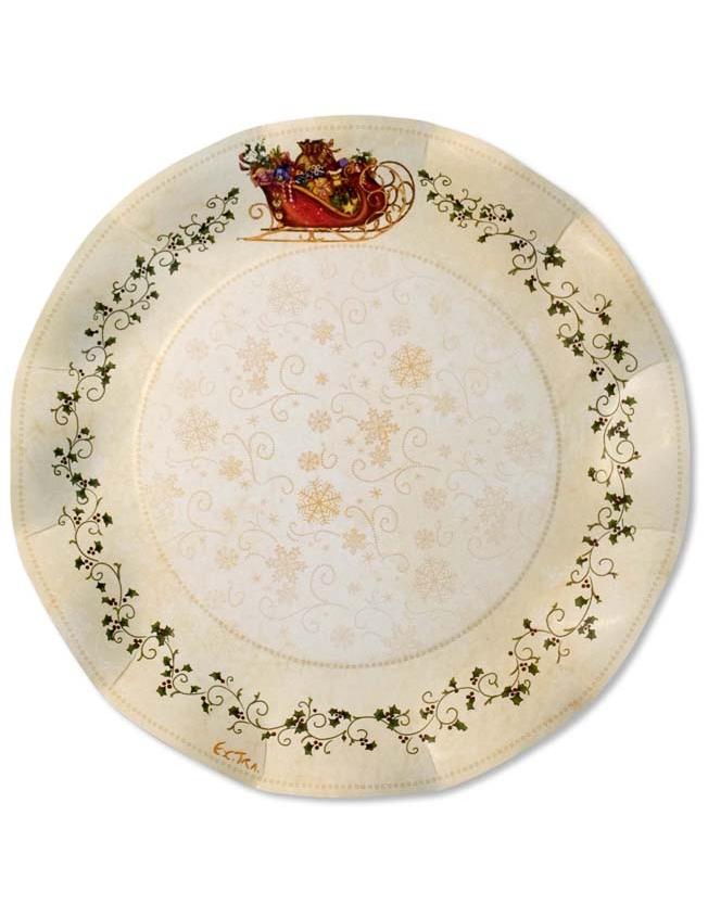 10 piatti natale decorati - Piatti di frutta decorati ...