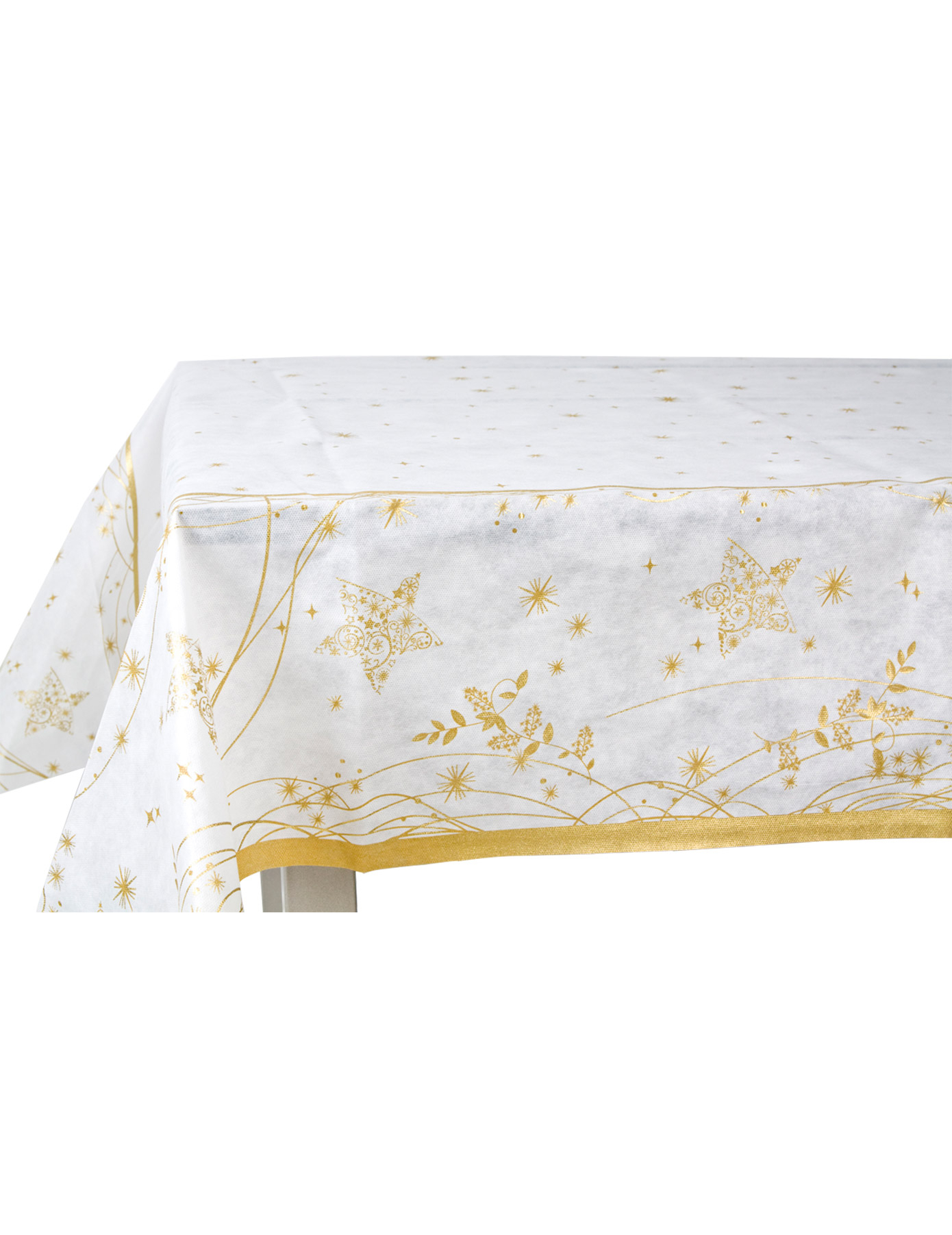 goldene weihnachts tischdecke. Black Bedroom Furniture Sets. Home Design Ideas