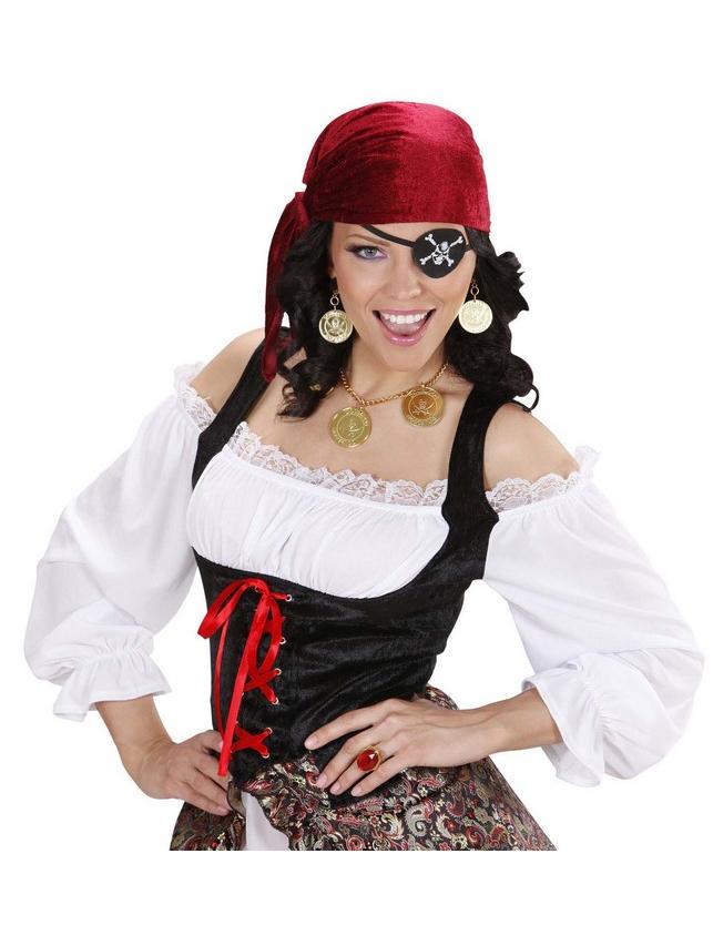 3a38f3bbcbf Kit collier et bloucles d oreilles pirate adulte   Deguise-toi ...