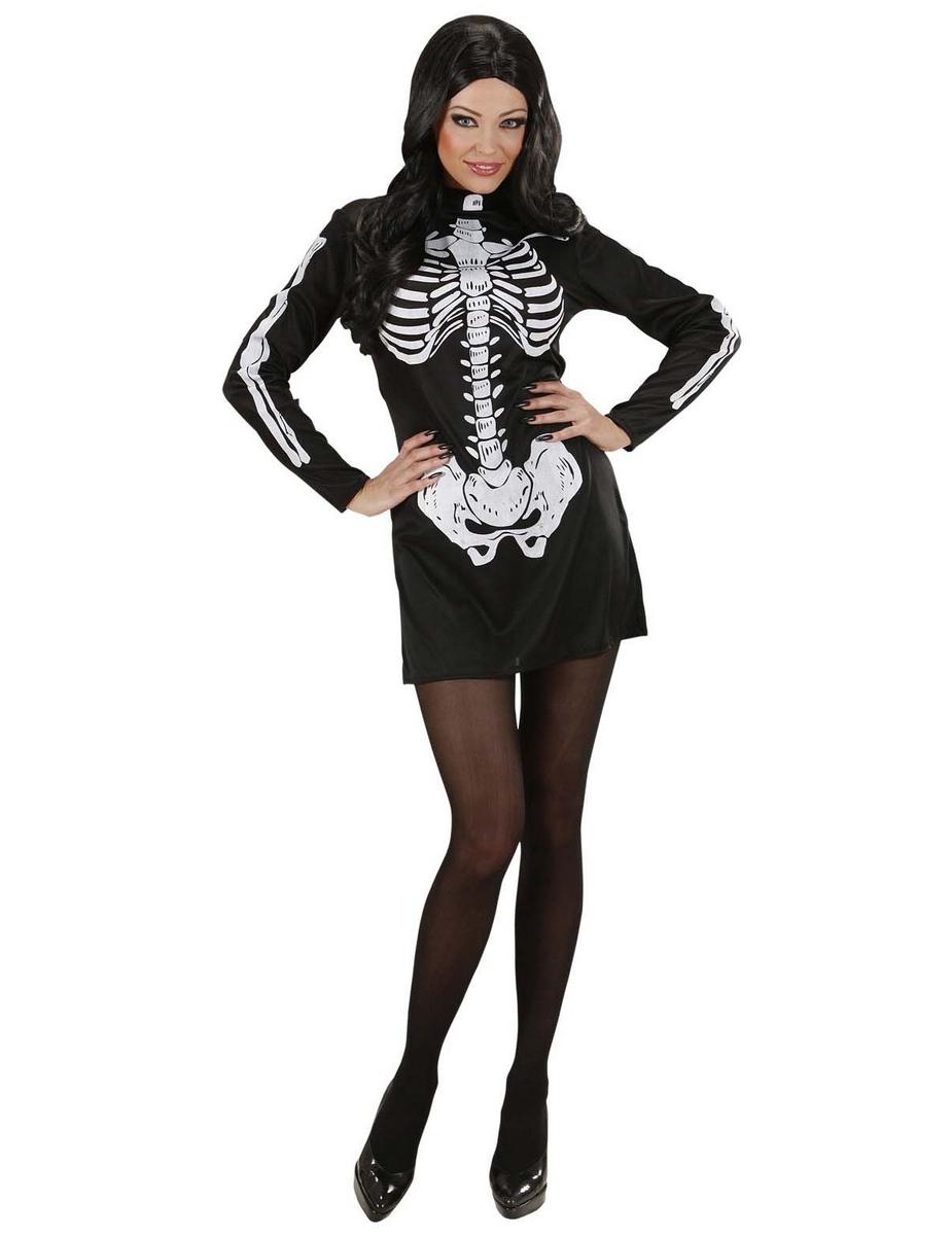 d guisement robe squelette femme halloween deguise toi. Black Bedroom Furniture Sets. Home Design Ideas