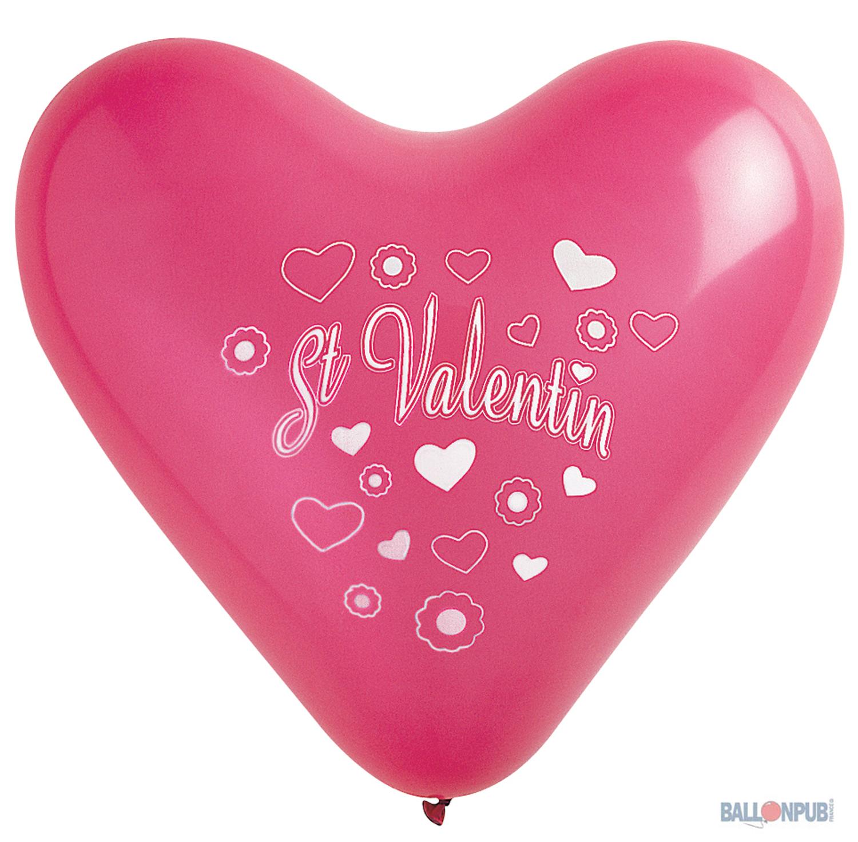 8 ballons coeur st valentin 35 cm deguise toi achat de - Coeur st valentin ...