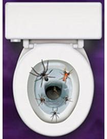 d coration autocollante pour abattant de wc araign es deguise toi achat de decoration animation. Black Bedroom Furniture Sets. Home Design Ideas