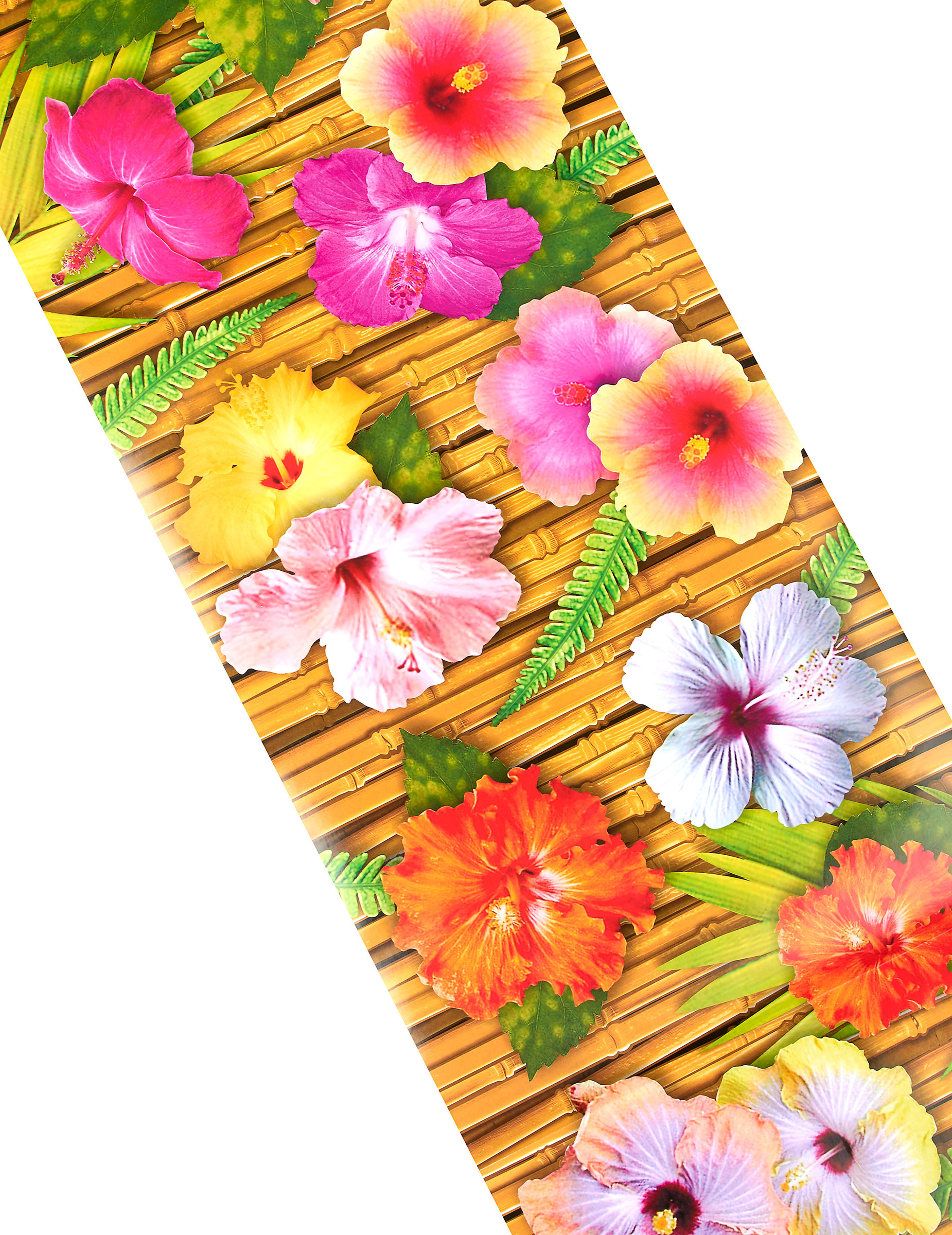 chemin de table fleur d'hibiscus hawaï 1.8 mètres : deguise-toi