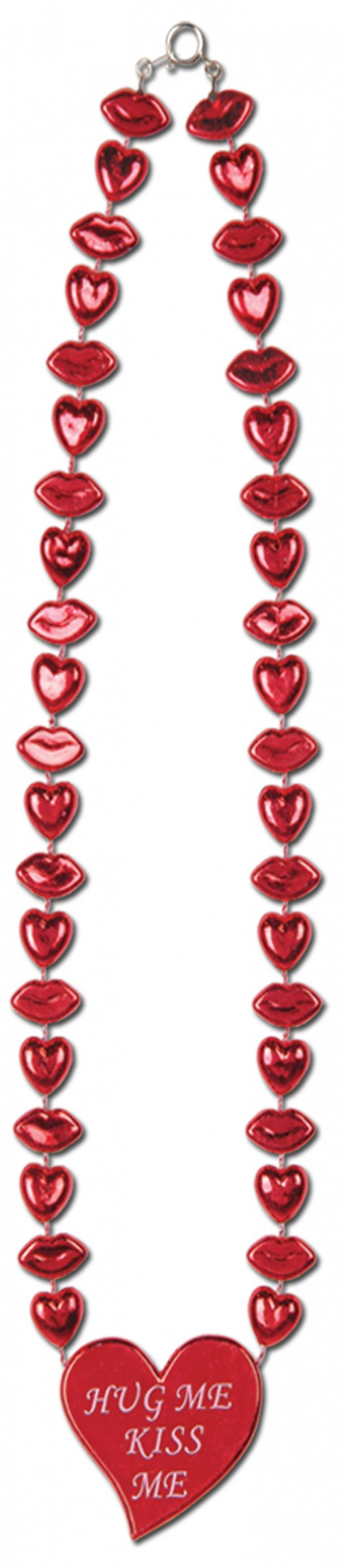 collier rouge bouches et coeurs saint valentin deguise toi achat de accessoires. Black Bedroom Furniture Sets. Home Design Ideas