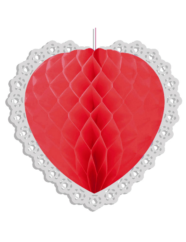 D coration coeur rouge saint valentin - Decoration coeur rouge ...